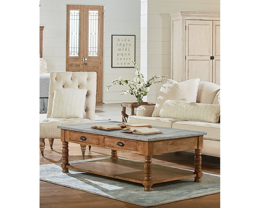 Favorite Magnolia Home Taper Turned Bench Gathering Tables With Zinc Top Pertaining To Primitive Bobbin Coffee Table – Coffee Table Ideas (View 3 of 25)
