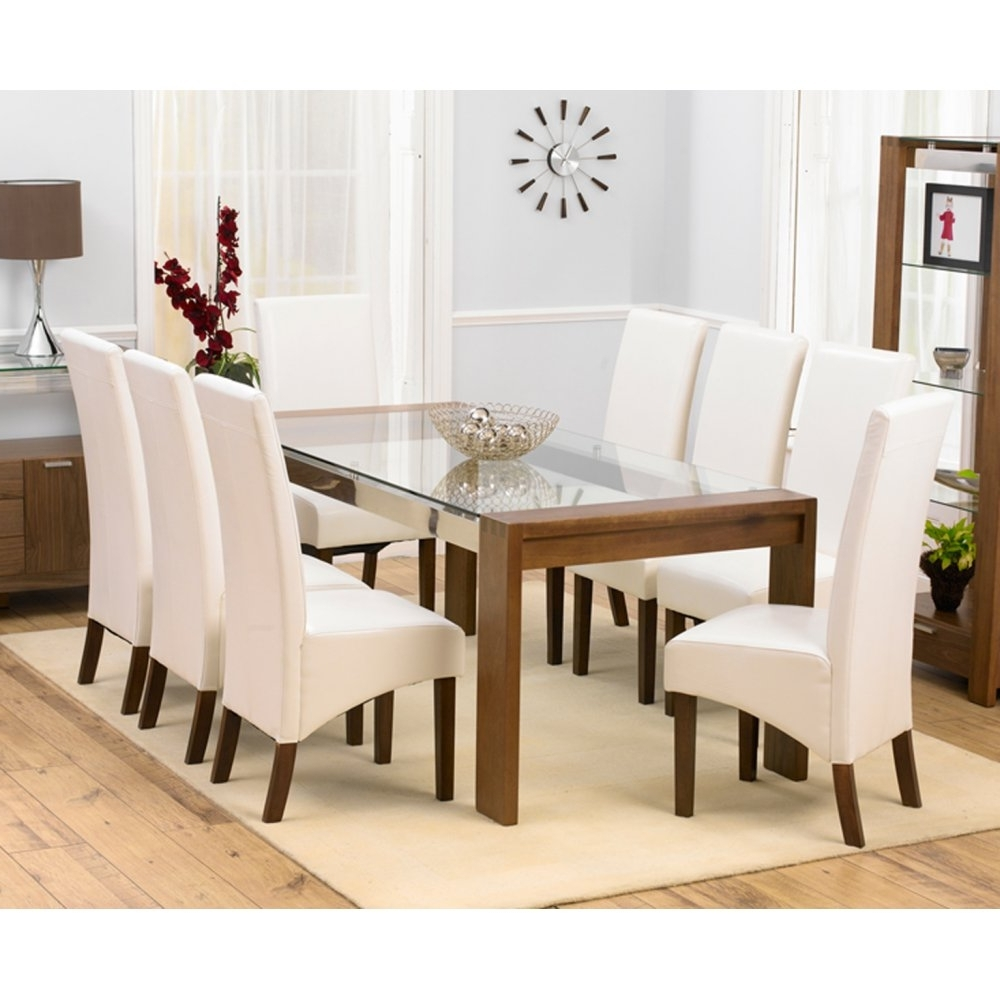 Favorite Mark Harris Roma Solid Walnut And Glass 200Cm Dining Set – Mark For Roma Dining Tables And Chairs Sets (View 6 of 25)