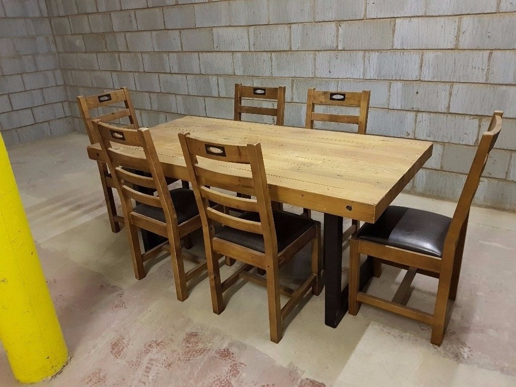 Favorite New York Dining Tables Inside New York Large Fixed Dining Table + 6 Chairs (View 21 of 25)