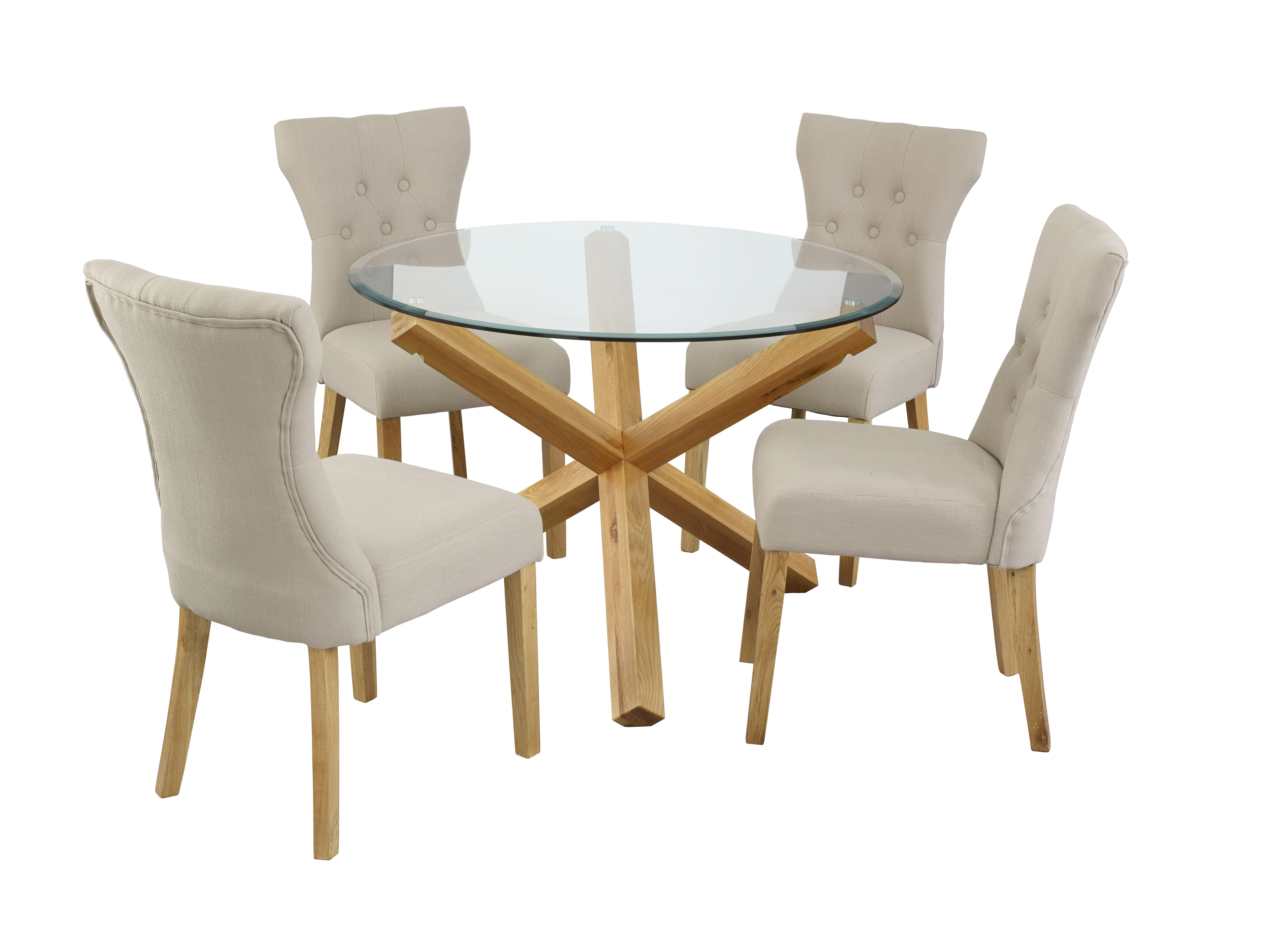 Favorite Oporto Table & Naples Chair – Lpd Furniture In Oak And Glass Dining Tables Sets (View 6 of 25)