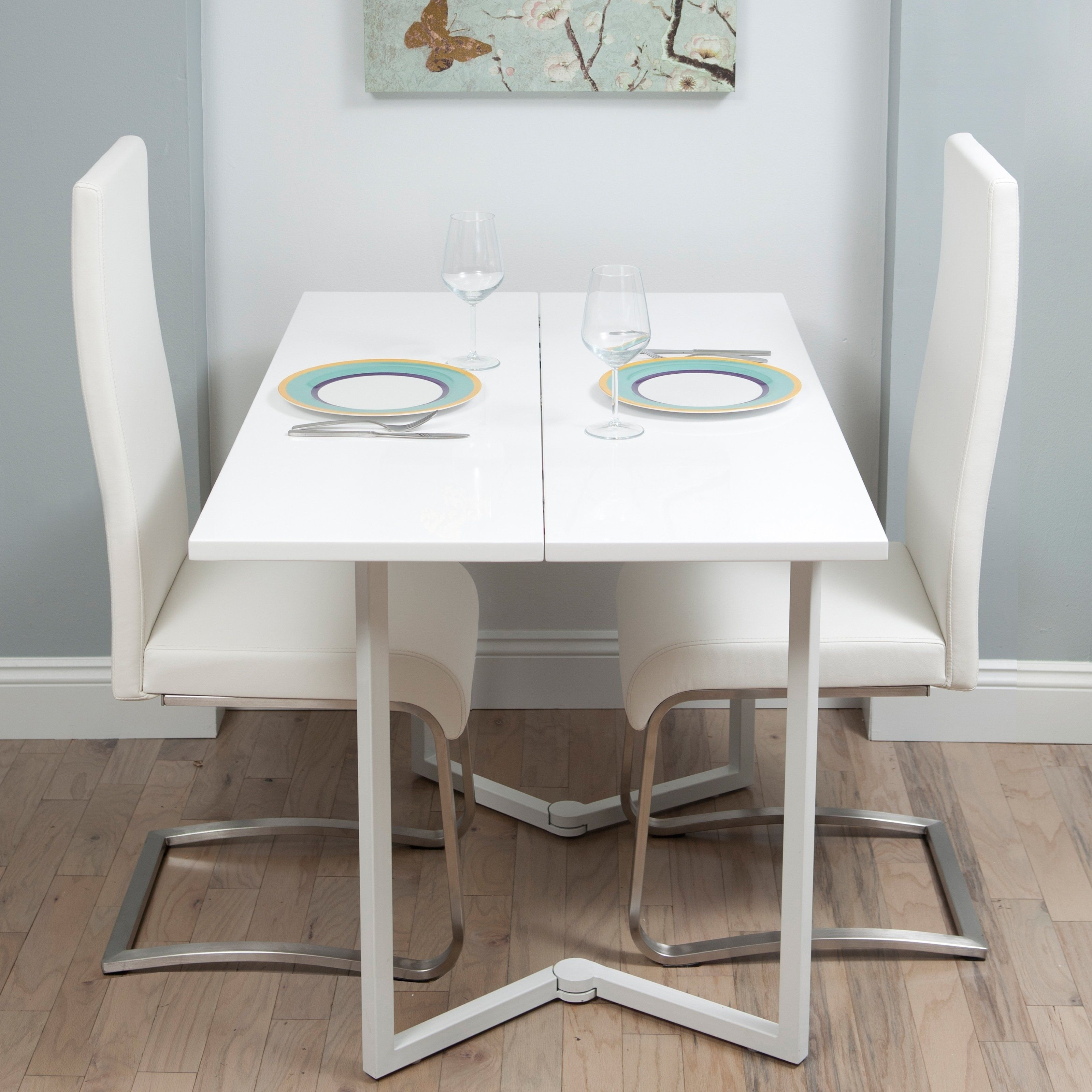 Favorite Oval Folding Dining Tables Throughout White Fold Away Dining Table And Chairs (View 5 of 25)