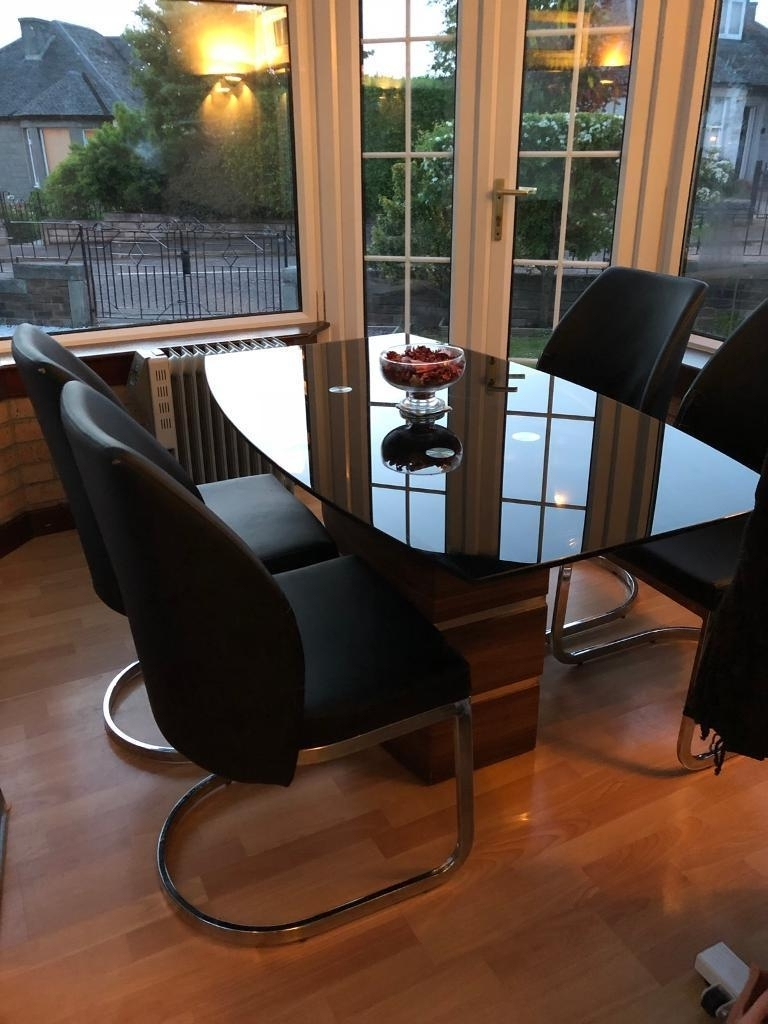 Favorite Phoenix Dining Tables With Quick Sale** Dfs Phoenix Fixed Dining Table And 4 Leather Chairs (View 6 of 25)