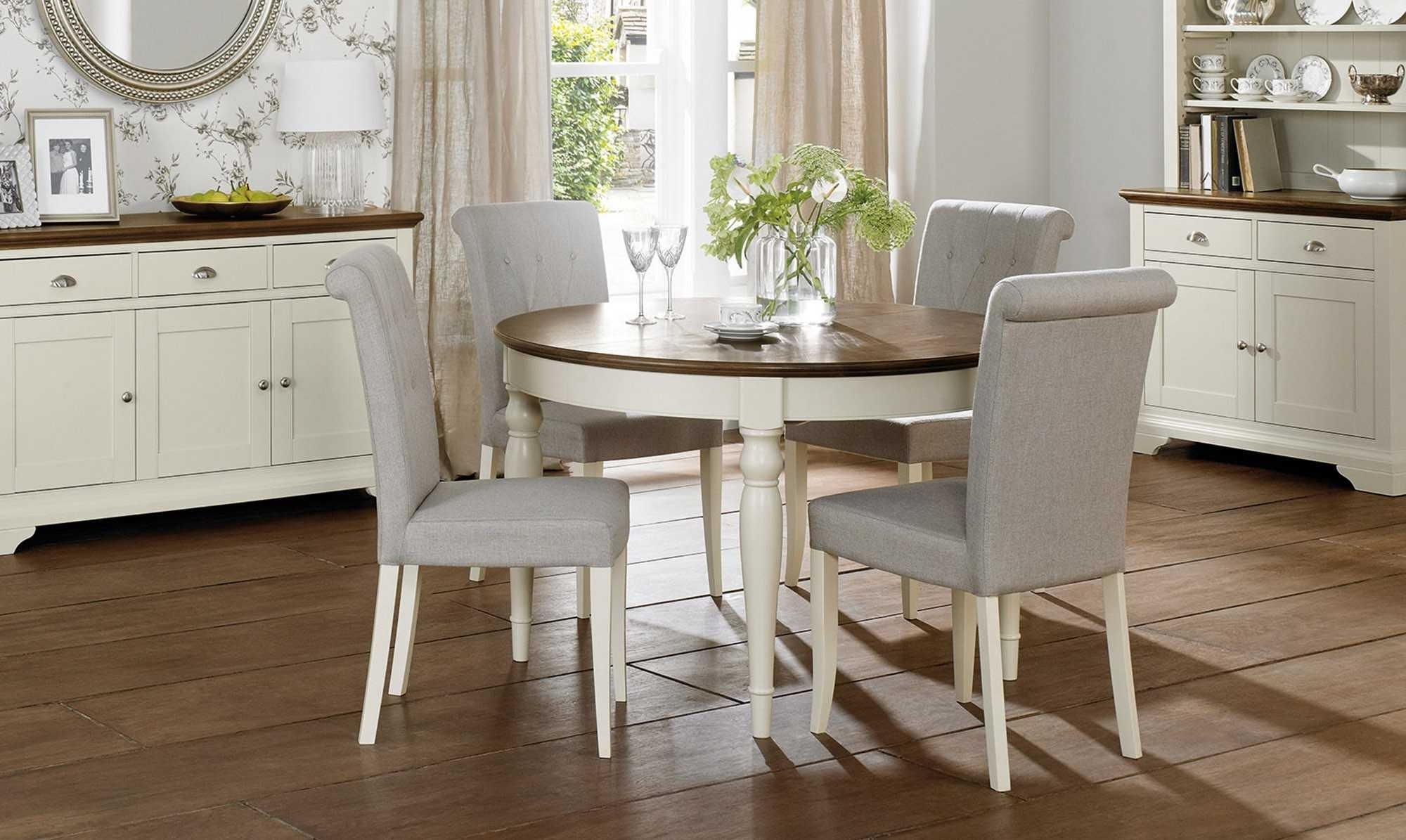 Favorite Round Extending Dining Table Sets – Castrophotos For Extendable Round Dining Tables Sets (View 15 of 25)