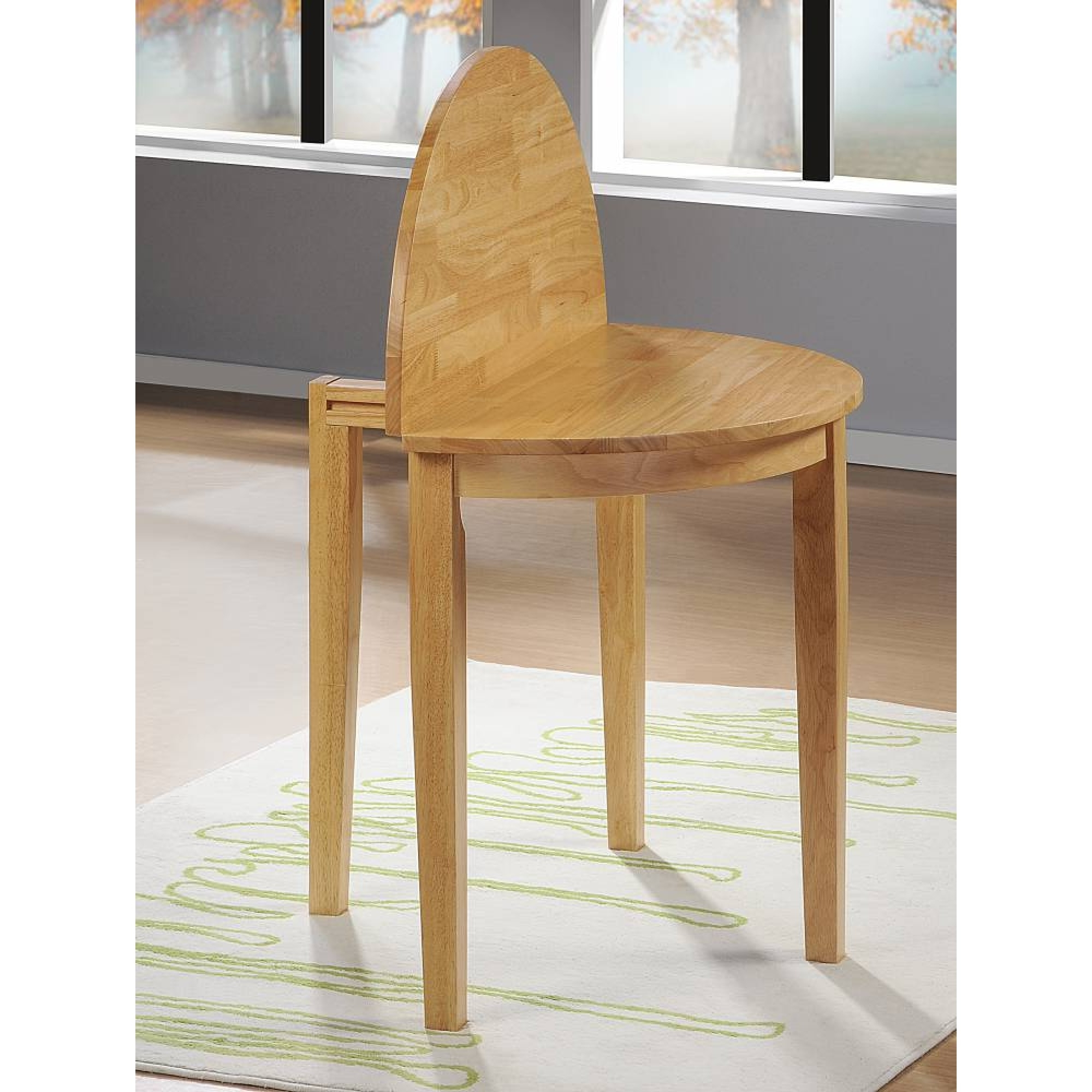 Favorite Round Wooden Modern Extendable Dining Table With Set Up Top Also Pertaining To Half Moon Dining Table Sets (View 21 of 25)