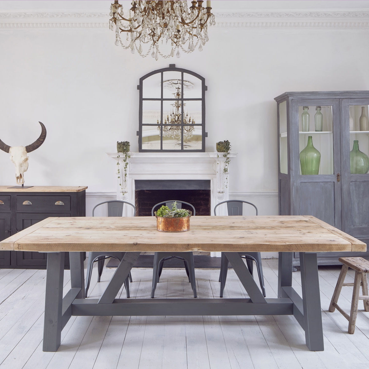 Favorite Salvaged Timber Industrial Reclaimed Dining Table Regarding Dining Tables (View 14 of 25)
