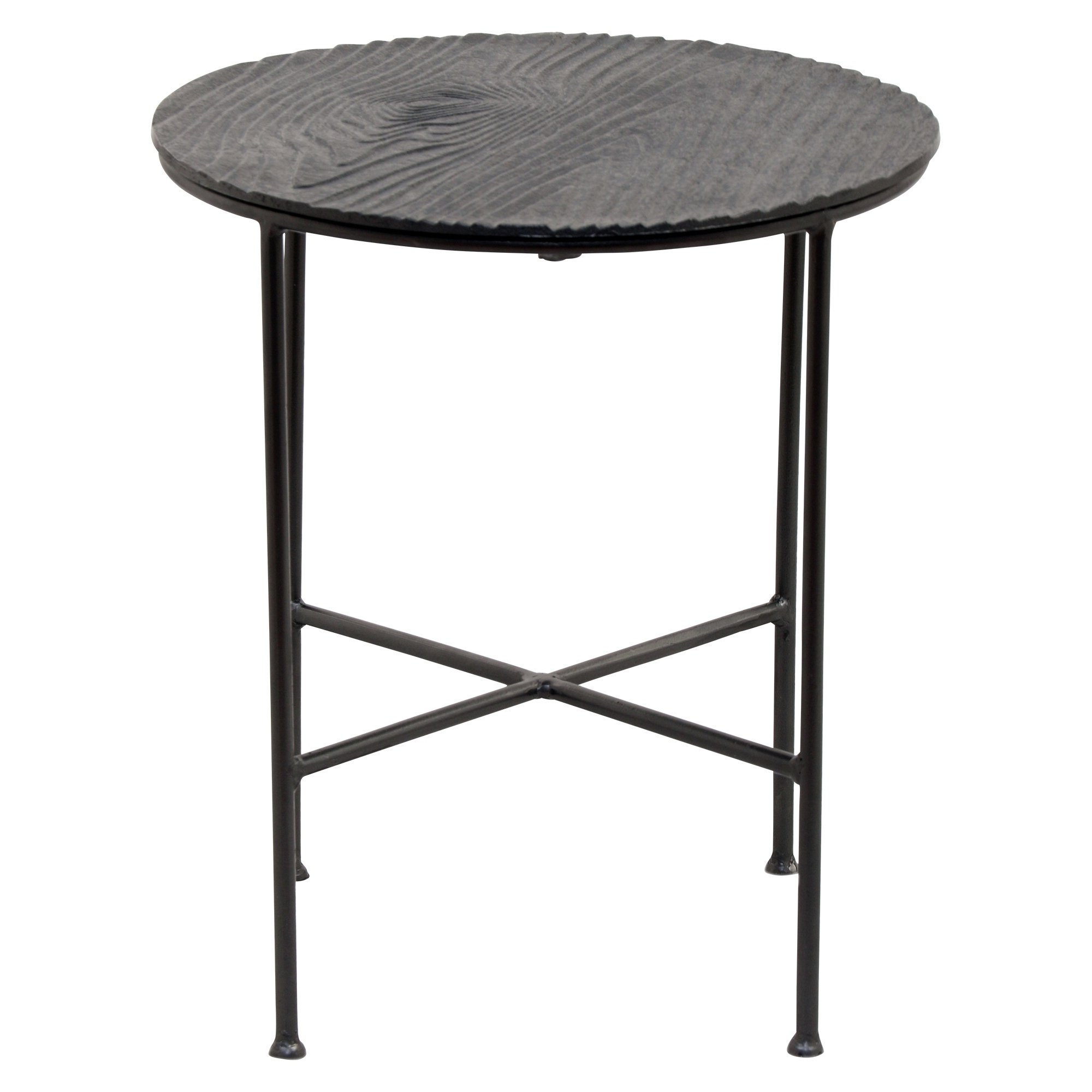 Favorite Shop Renwil Bale Grey Aluminum Round Accent Table – Free Shipping In Bale Rustic Grey Dining Tables (View 9 of 25)