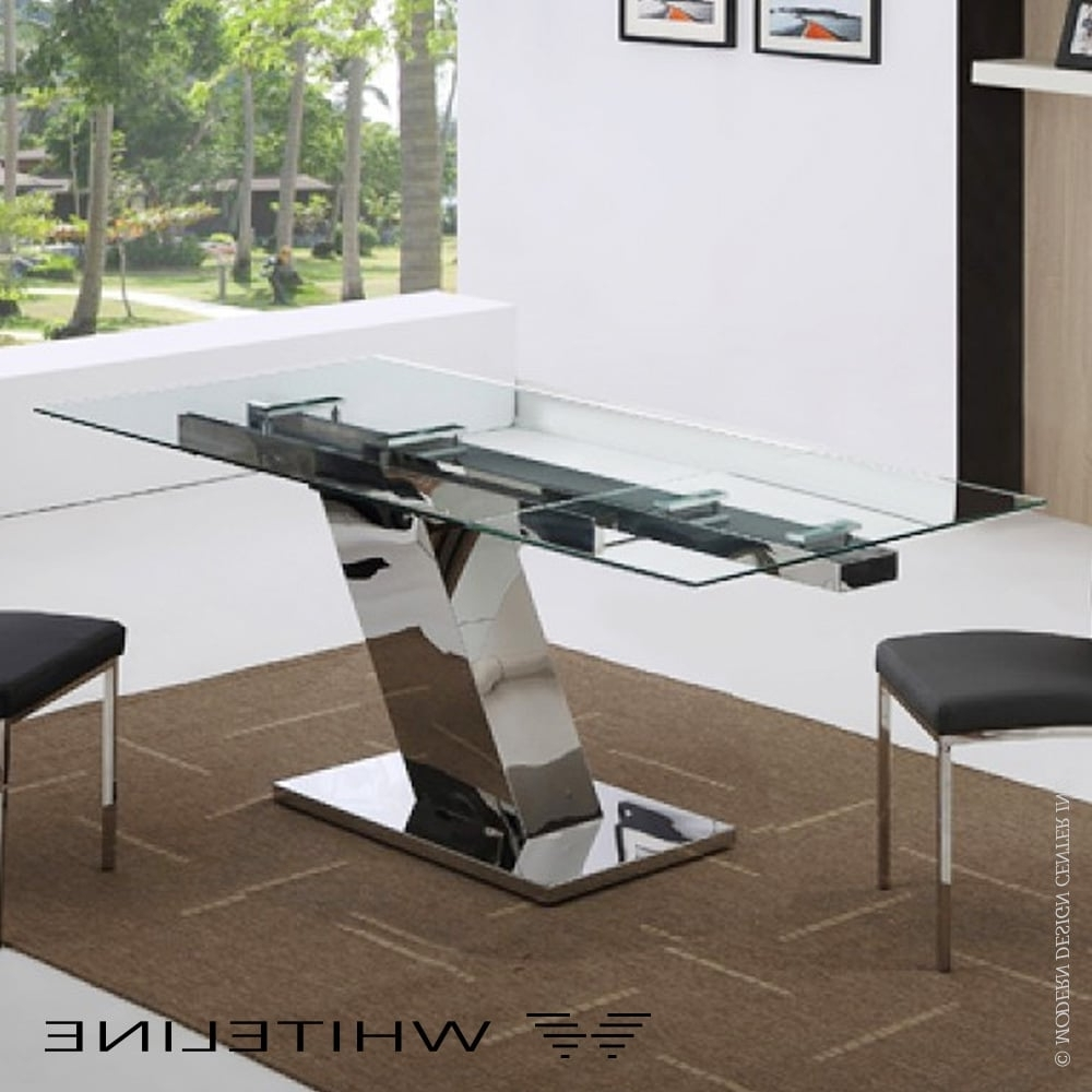 Favorite Sleek Dining Tables With Regard To Sleek Extendable Dining Tablewhiteline (View 6 of 25)