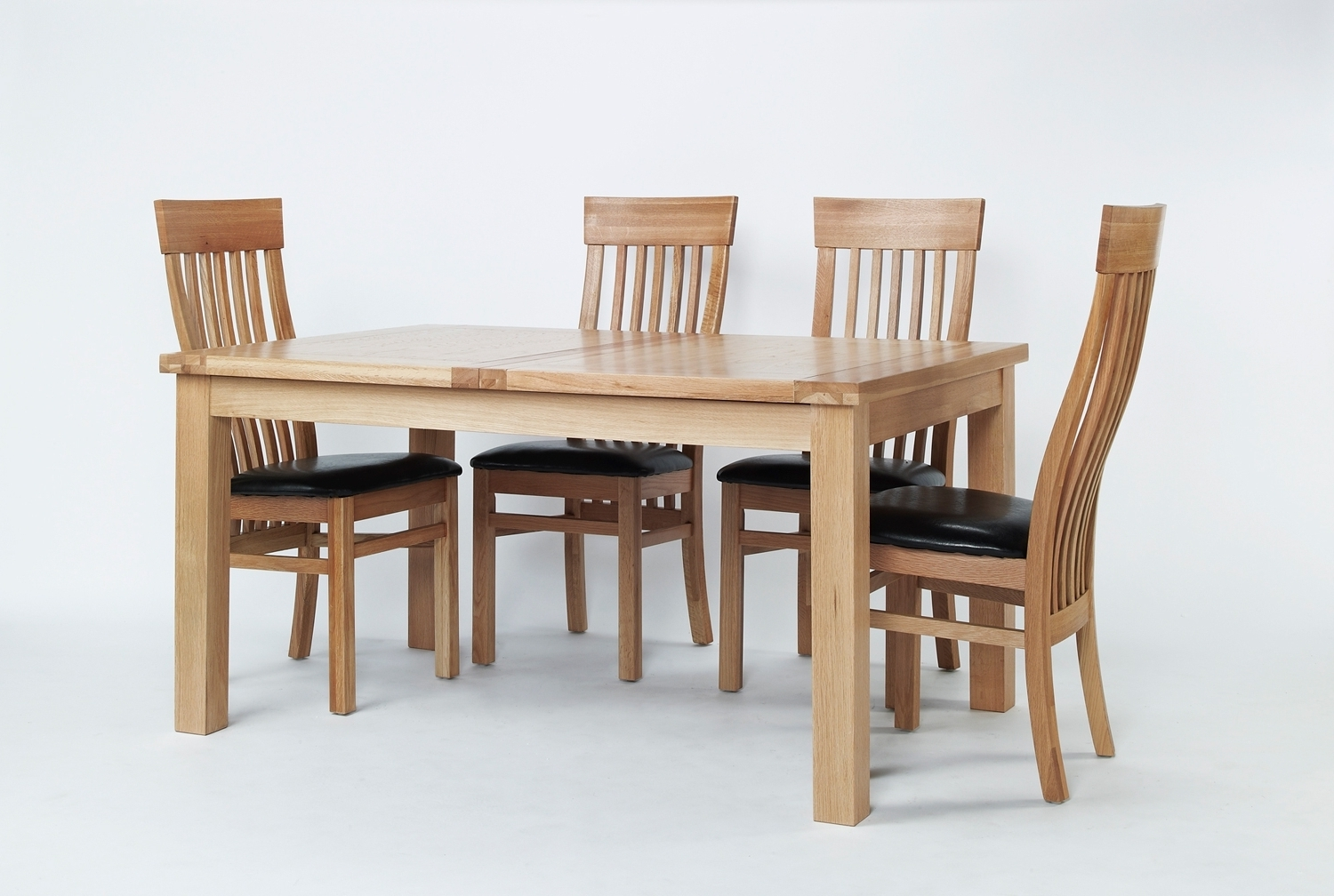 Favorite Small 4 Seater Dining Tables Within Sherwood Oak Large Extending Dining Table & 6 Or 8 Sherwood Oak Slat (View 9 of 25)