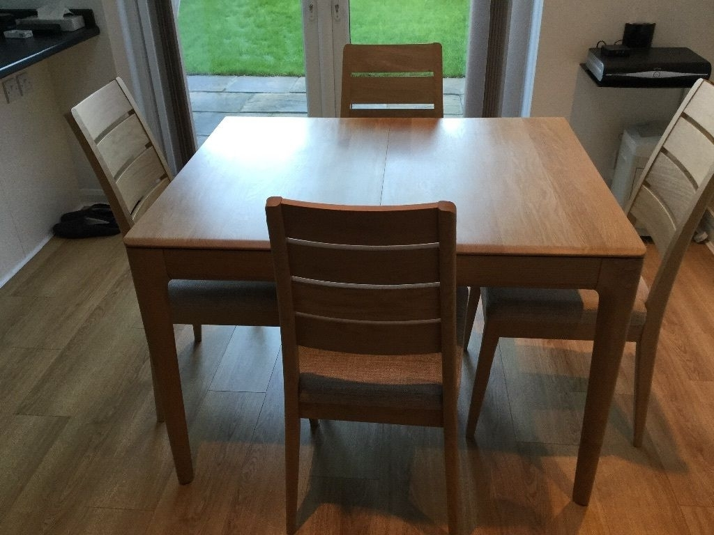 Favorite Small Extending Dining Tables For Ercol Romana Extending Dining Table & Chairs (View 18 of 25)
