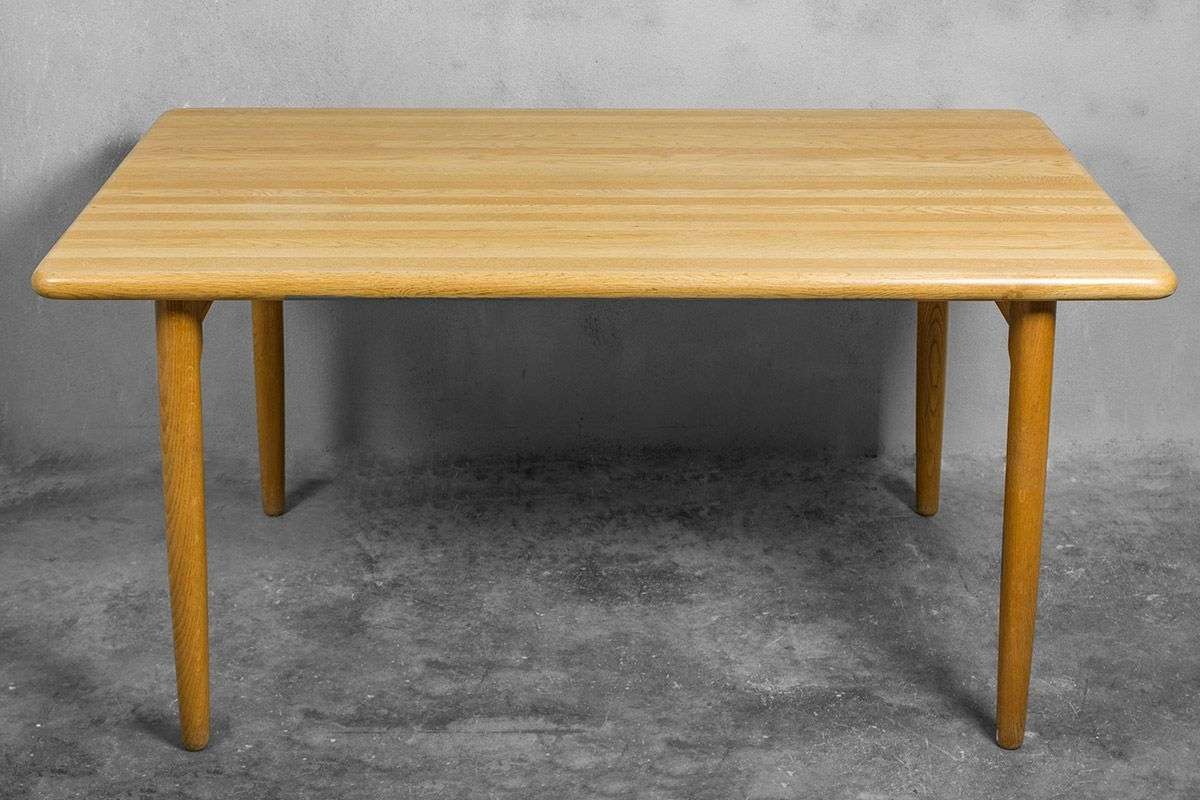 Favorite Solid Oak Dining Tables Regarding Danish Solid Oak Dining Tableniels Otto Møller For J.l (View 2 of 25)