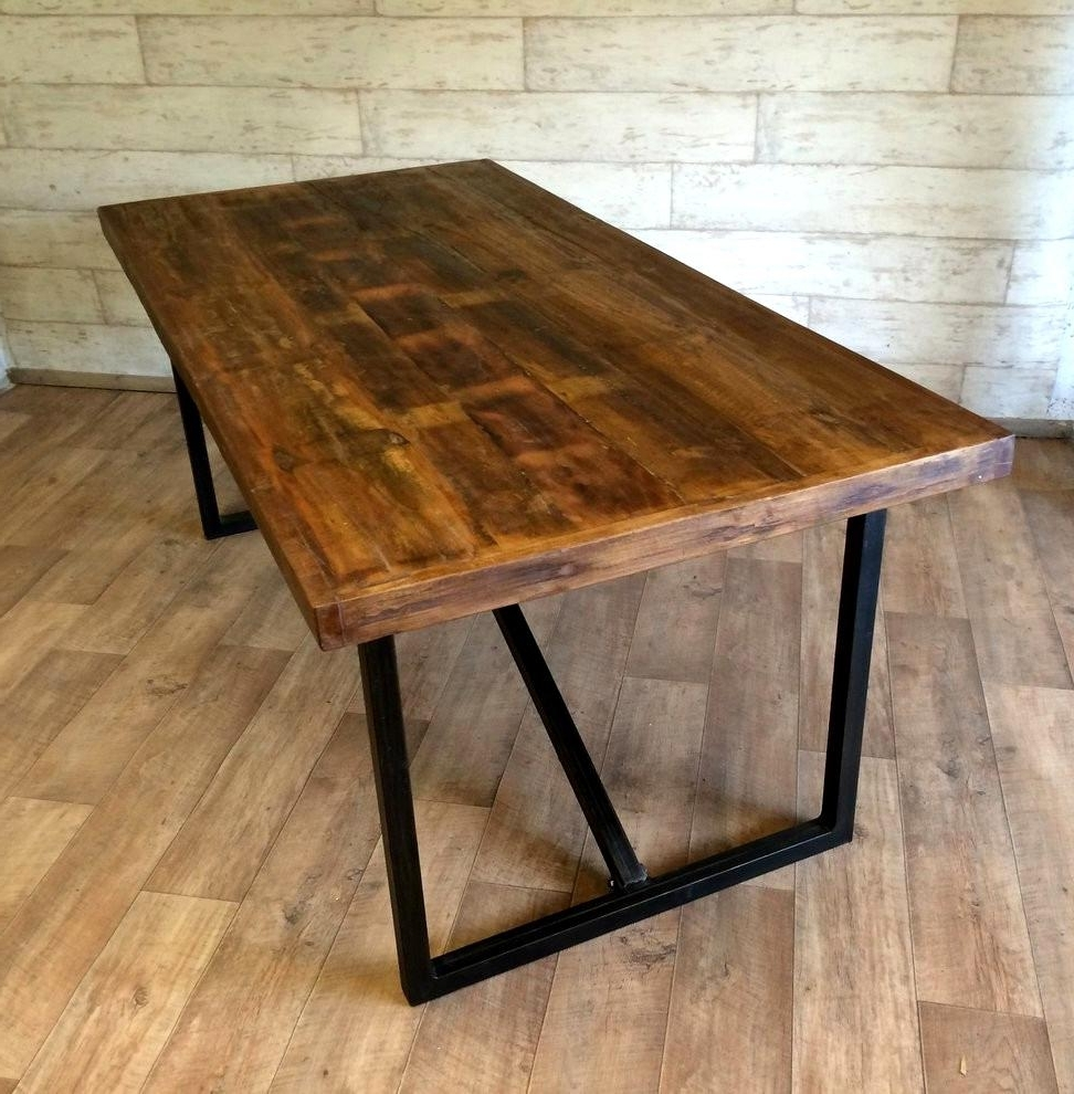 Favorite Startling Industrial Style Dining Table Wood Delightful Industrial With Industrial Style Dining Tables (View 15 of 25)