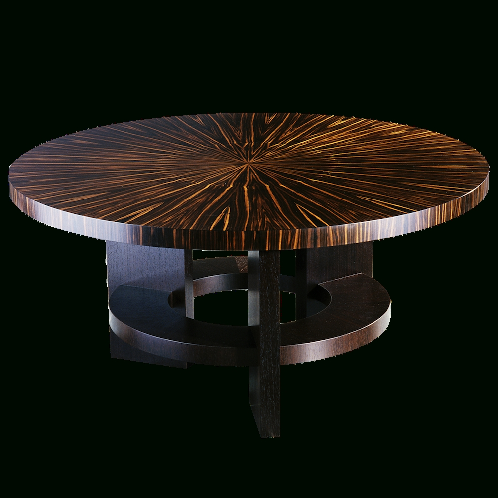 Fifth Avenue New York Art Deco Style Round Dining Table With Within 2017 New York Dining Tables (View 6 of 25)