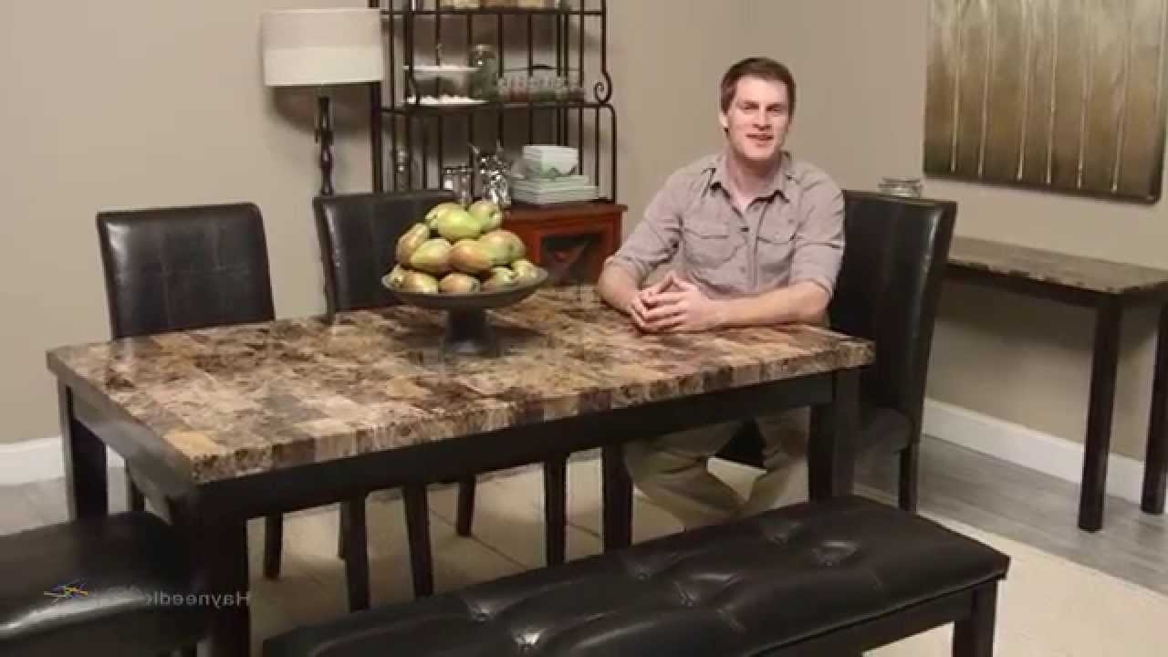 Finley Home Palazzo 6 Piece Dining Set With Bench – Youtube Regarding Newest Palazzo 3 Piece Dining Table Sets (View 6 of 25)