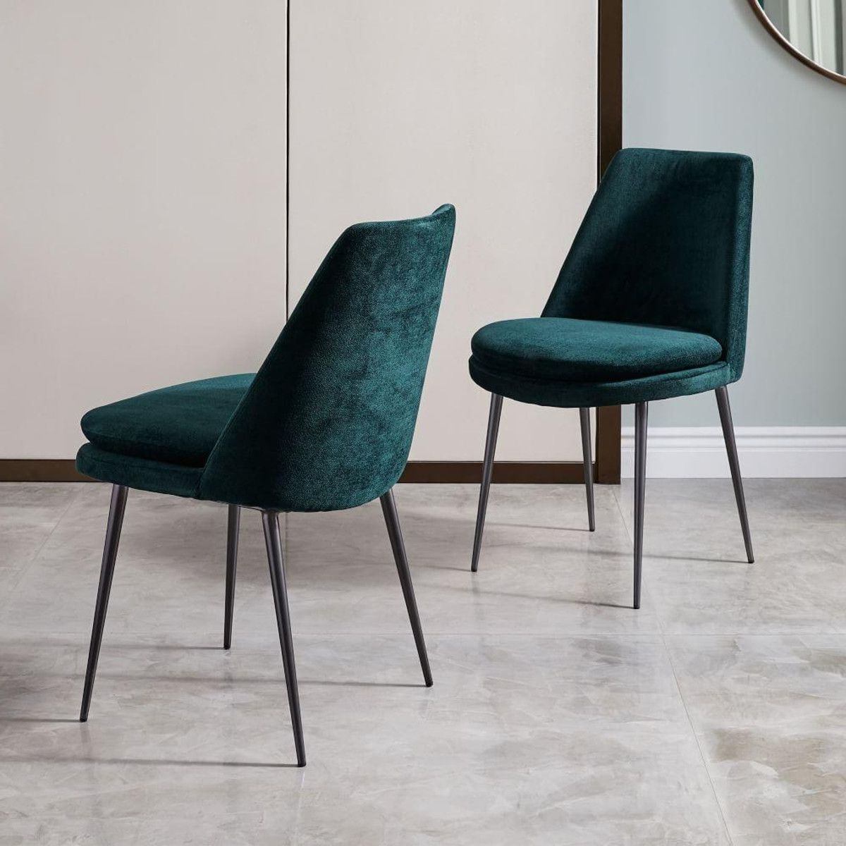 Finley Low Back Velvet Dining Chair (View 8 of 25)
