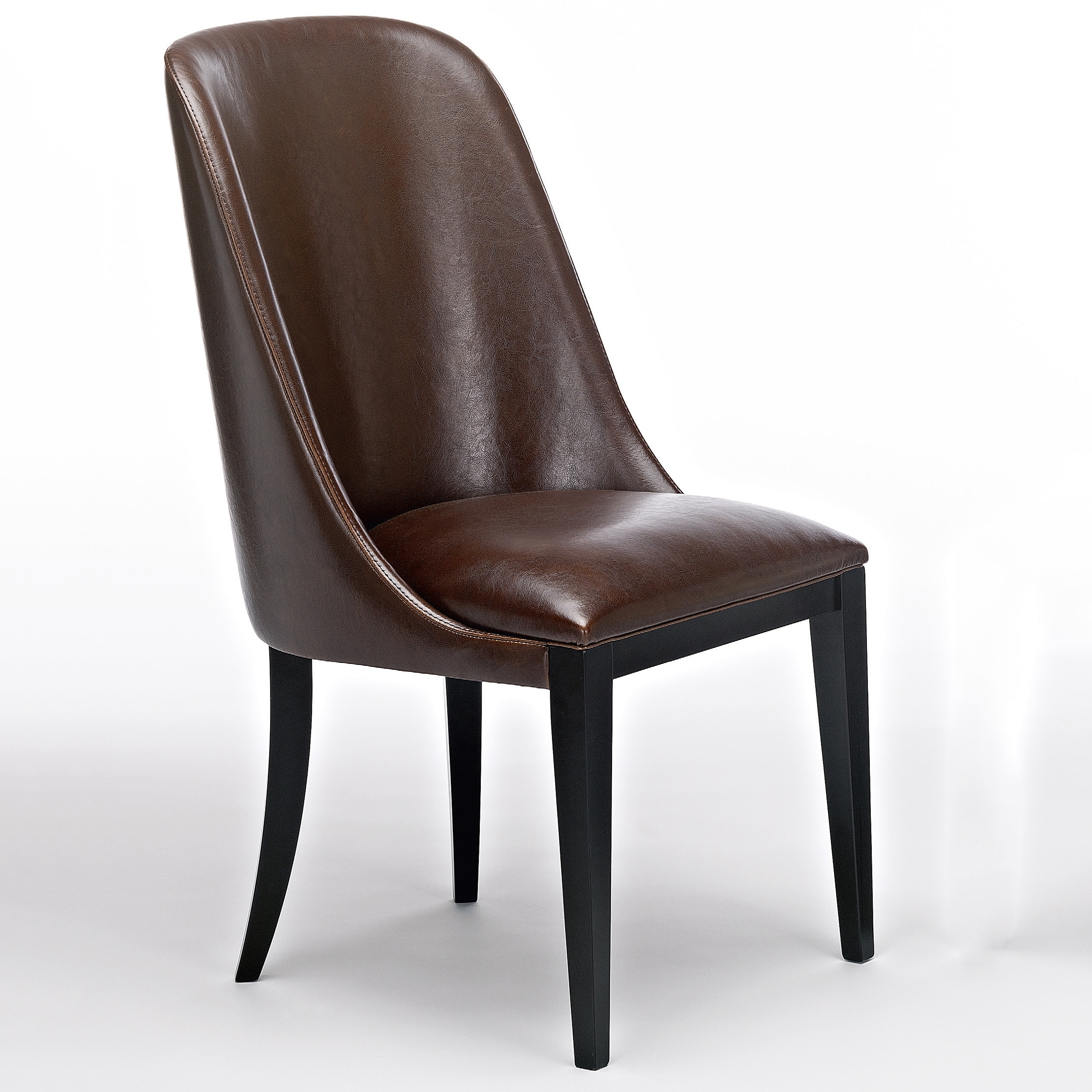 Flamingo Dark Brown Leather Dining Chairs – Robson Furniture With Regard To Well Known Dark Brown Leather Dining Chairs (View 6 of 25)