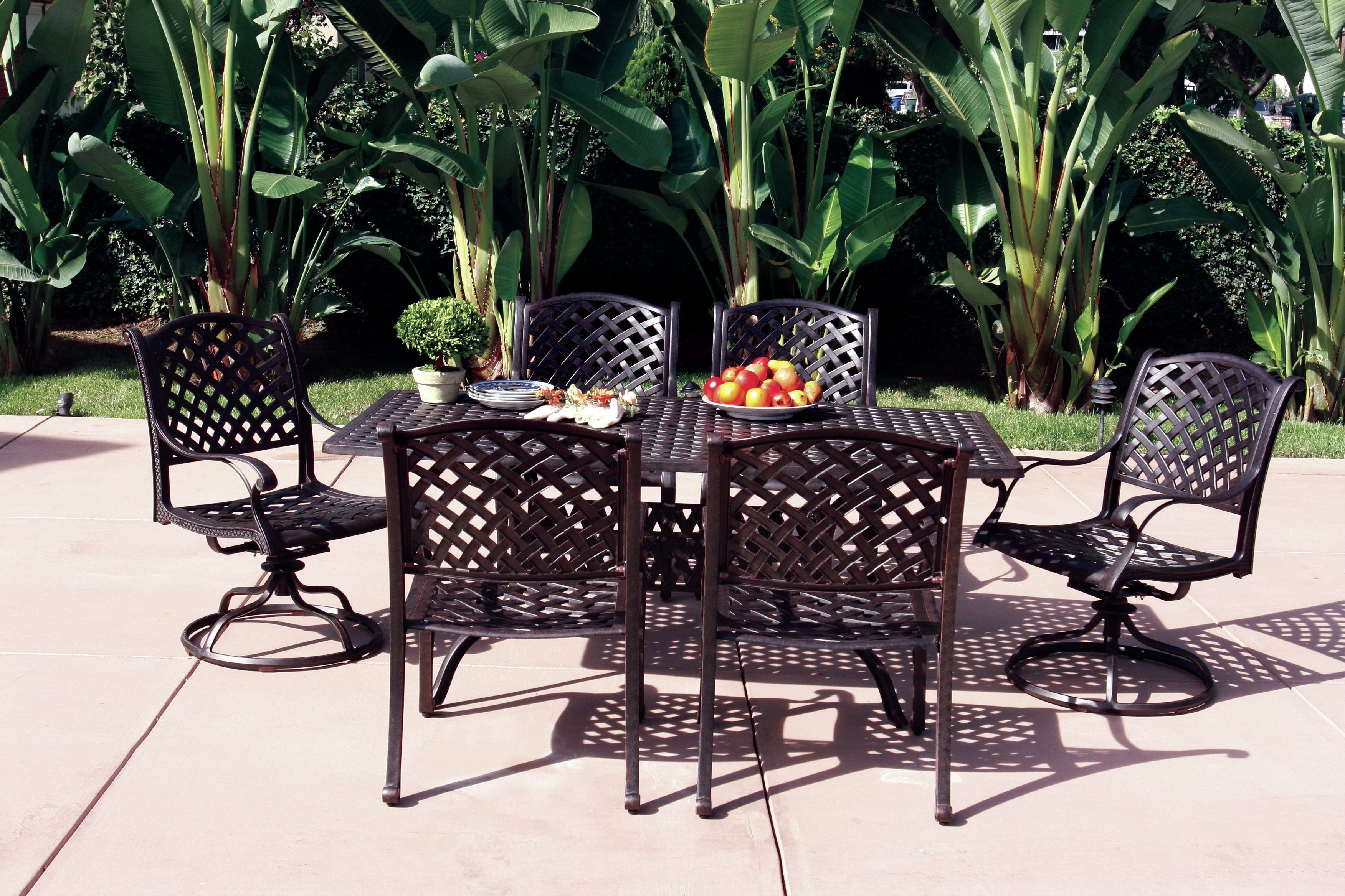 Fleur De Lis Living Lincolnville 7 Piece Dining Set With Cushions Inside Fashionable Delfina 7 Piece Dining Sets (View 19 of 25)