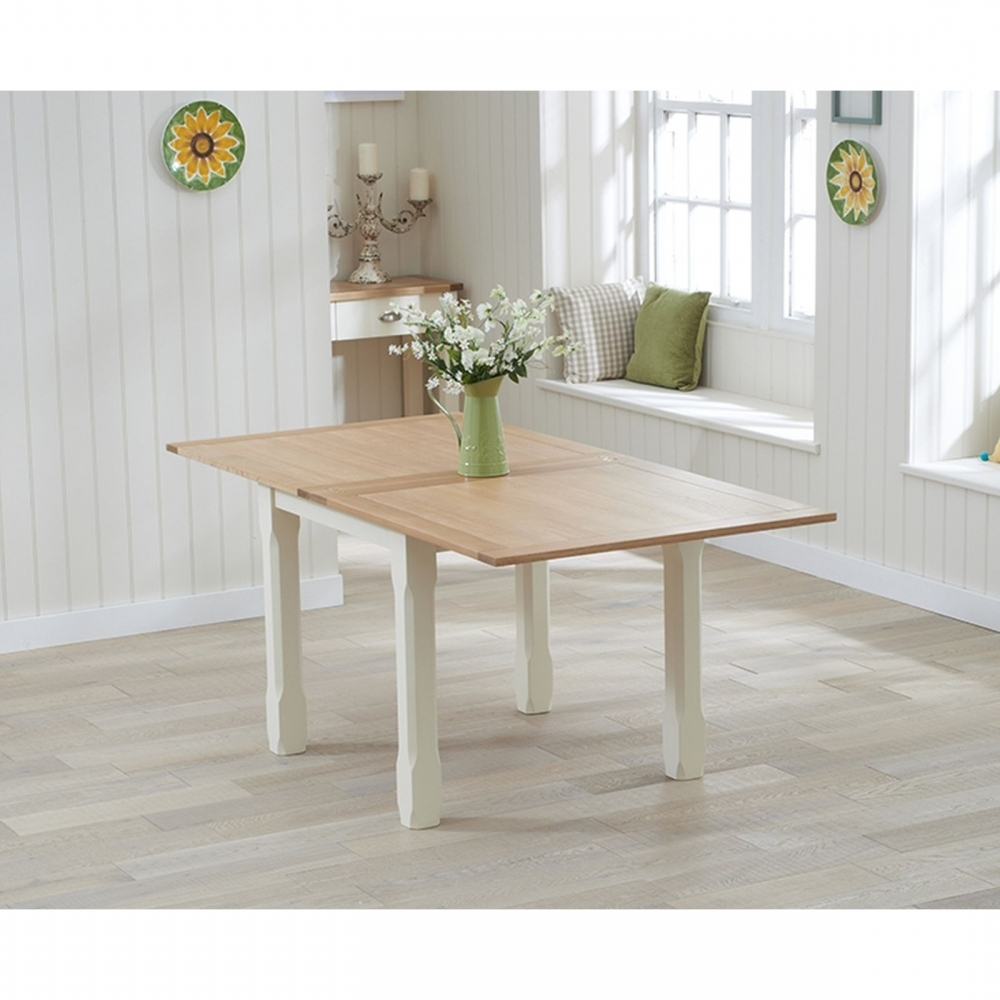 Flip Top Oak Dining Tables Intended For Fashionable Aston Cream Painted Furniture Flip Top Extending Dining Table With (View 11 of 25)