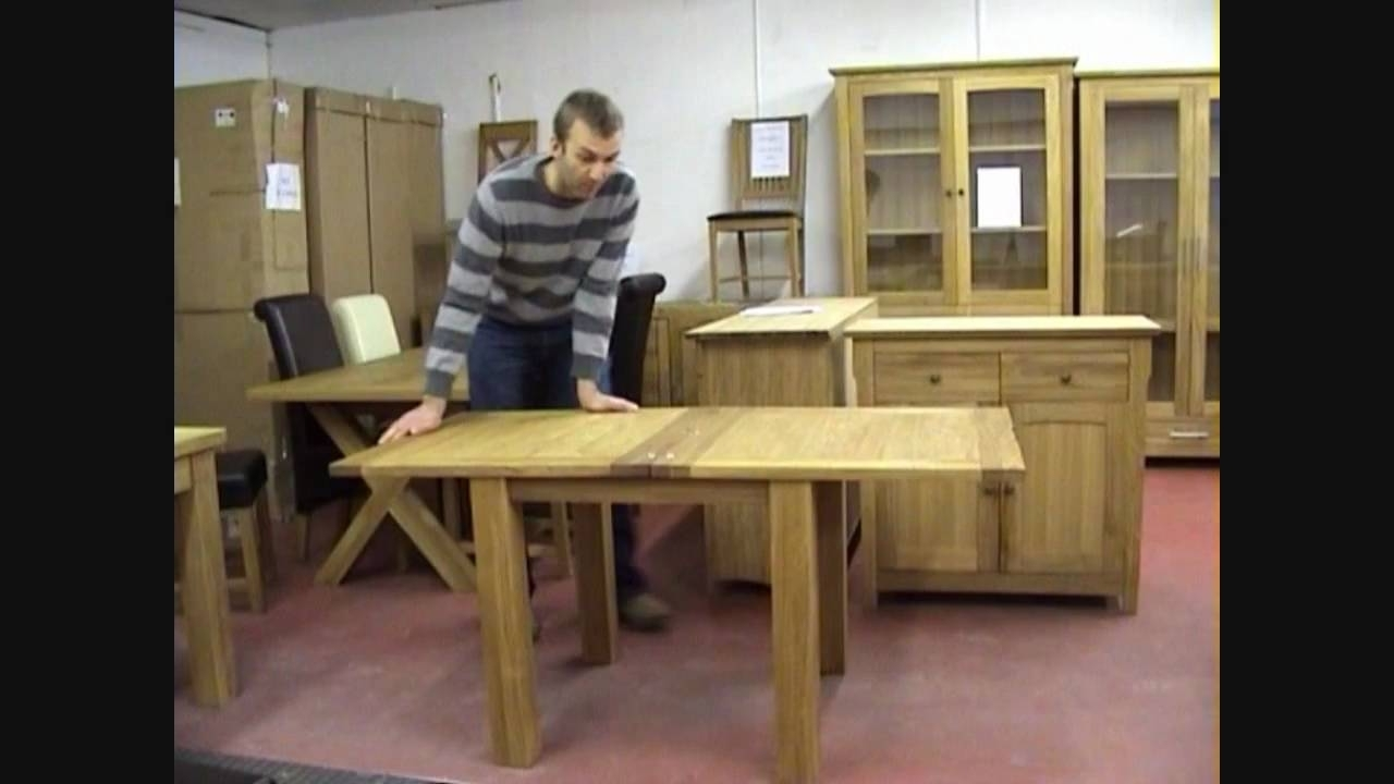 Flip Top Oak Extending Dining Table Large And Small Sizes – Youtube With Regard To Well Liked Flip Top Oak Dining Tables (View 14 of 25)