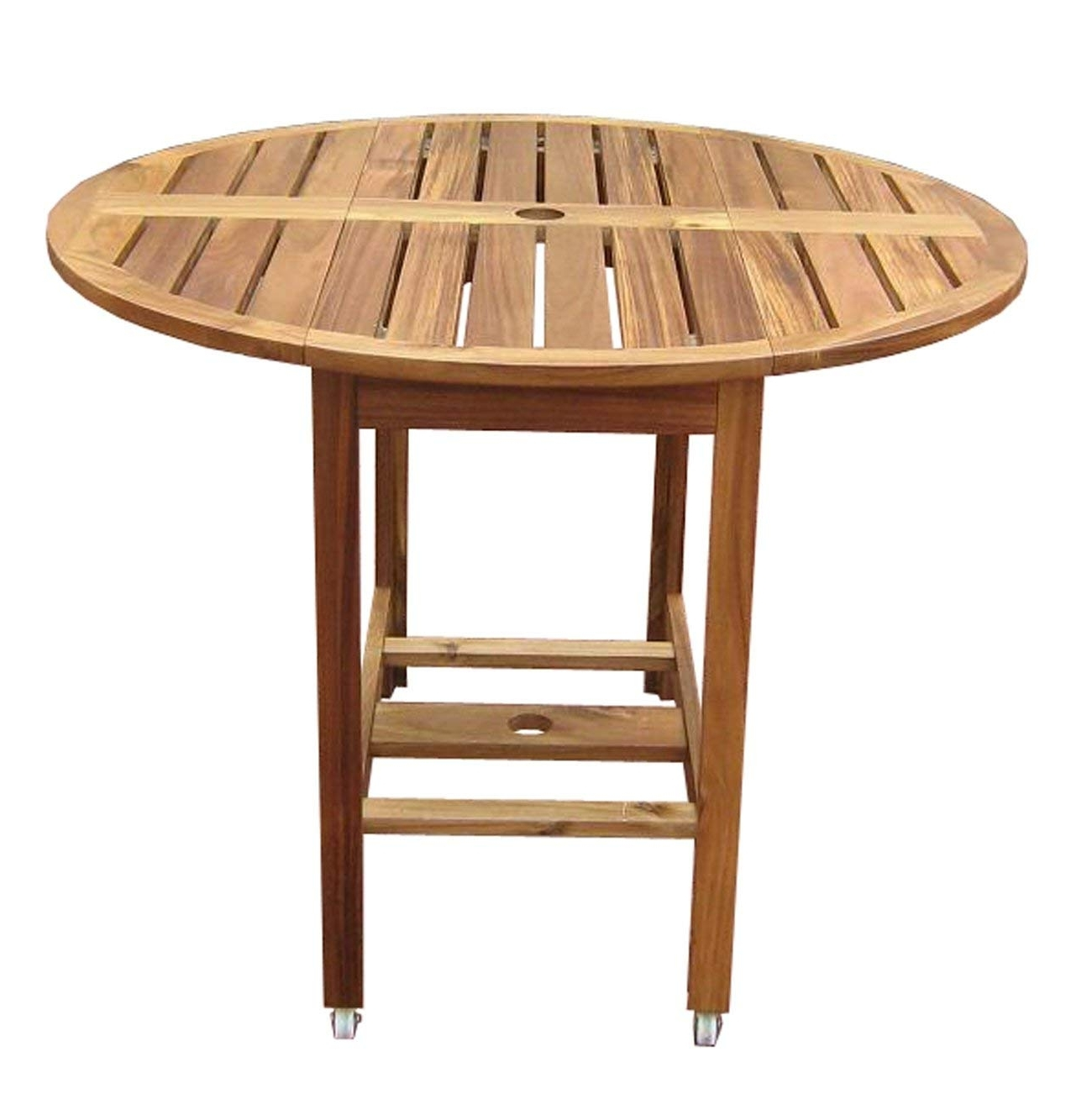 Folding Dining Tables Pertaining To 2018 Amazon : Merry Garden Acacia Folding Dining Table : Folding (View 12 of 25)