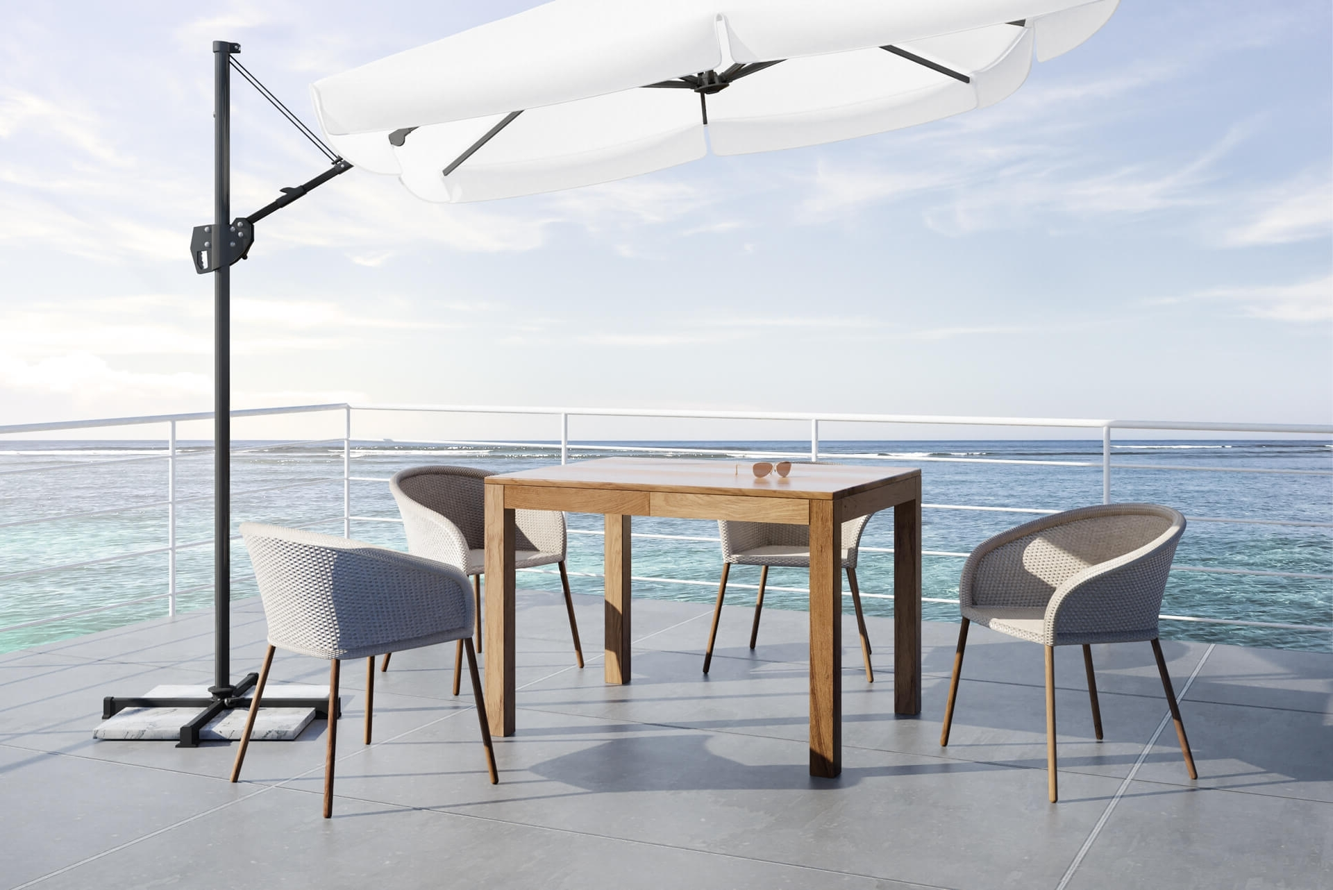 Folding Garden Table – Lg Lesmo With Regard To Fashionable Combs Extension Dining Tables (View 23 of 25)