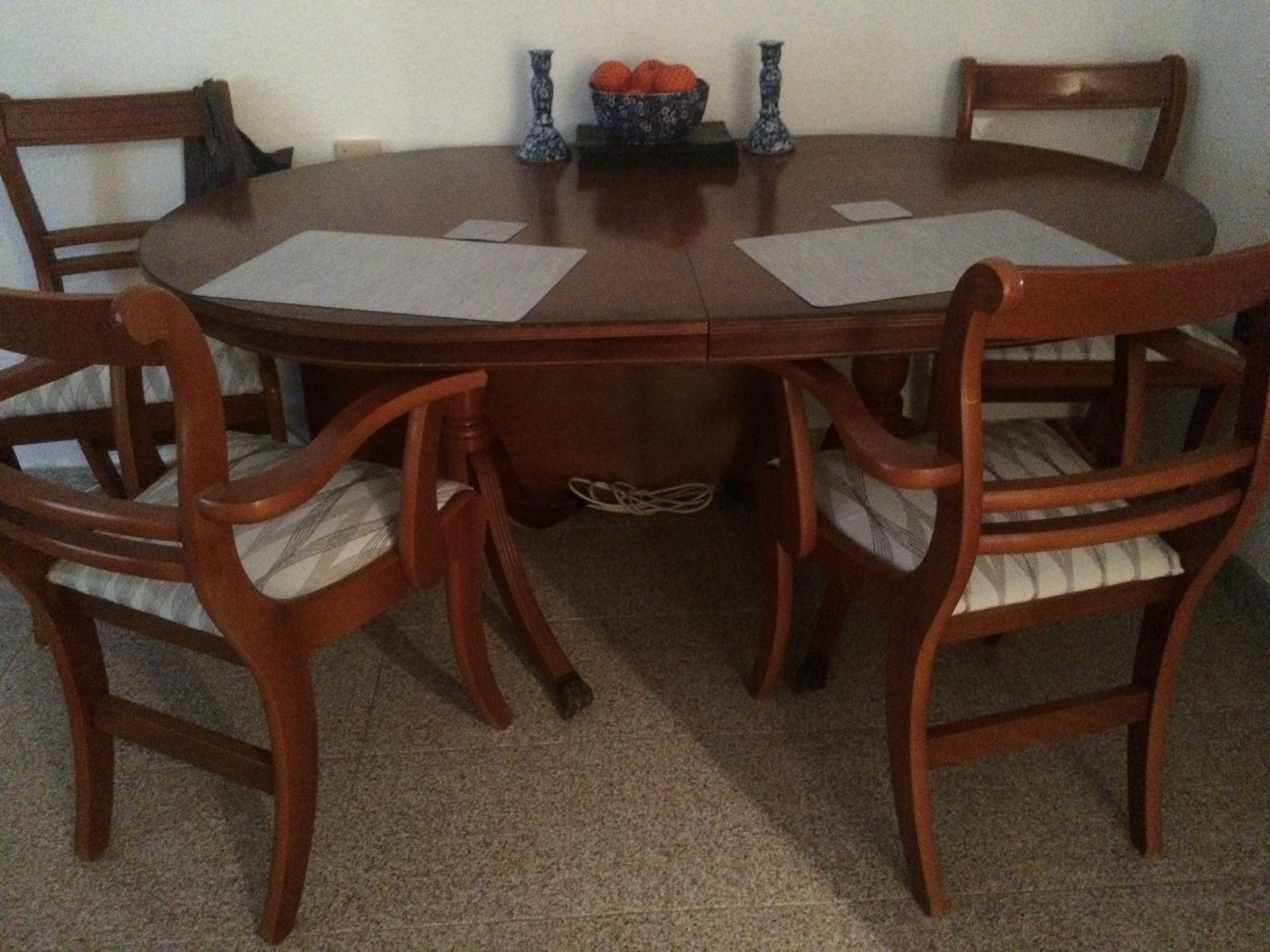 For Sale: Extending Mahogany Dining Table/4 Chairs – Buy And Sell For Popular Mahogany Dining Tables And 4 Chairs (View 5 of 25)