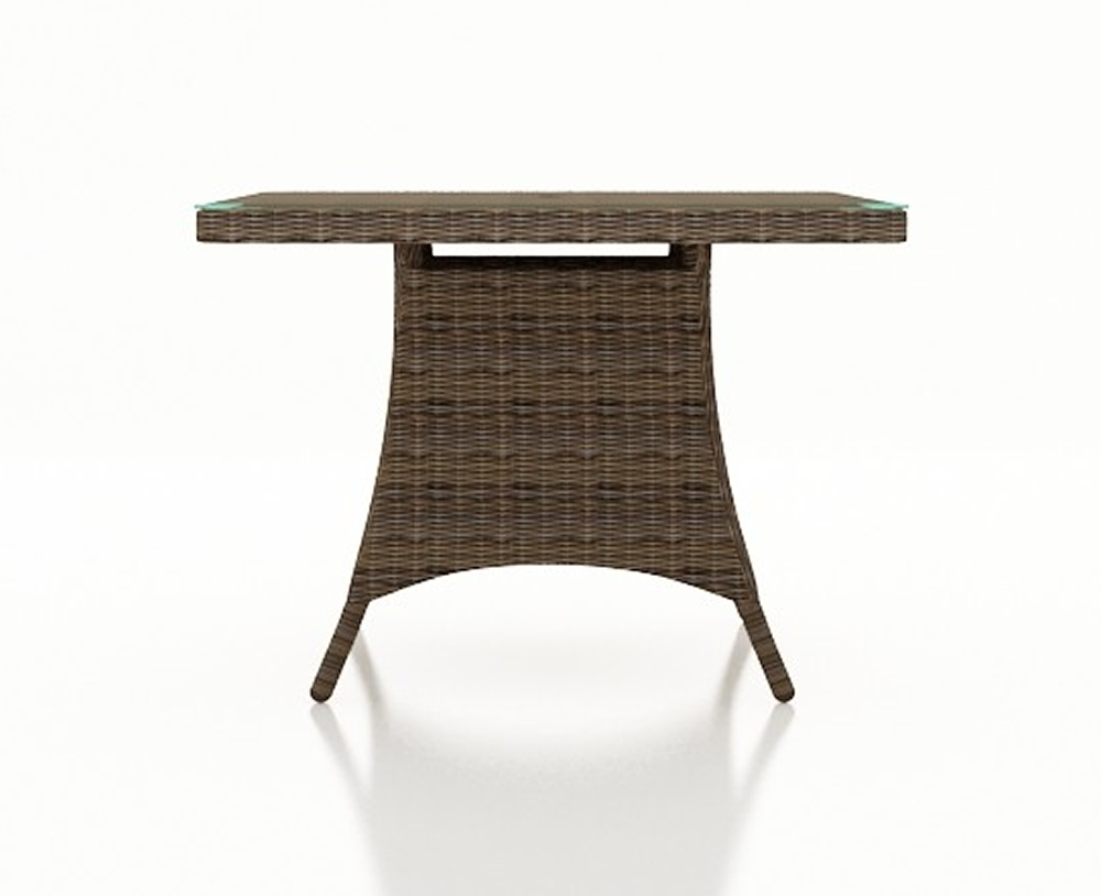 """Forever Patio Cypress Wicker 48"""" Square Dining Table – Wicker Pertaining To Popular Rattan Dining Tables (View 6 of 25)"""