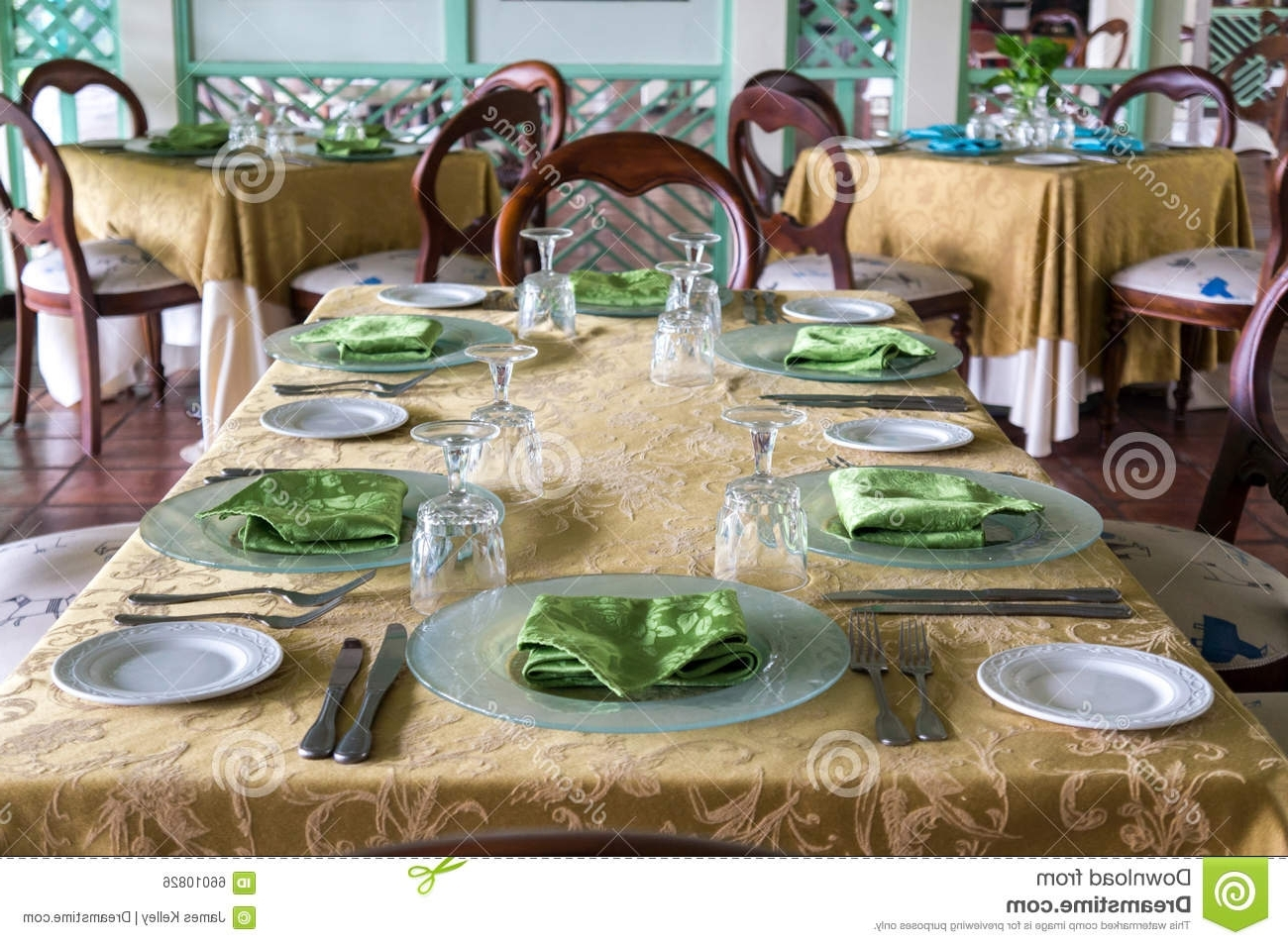 Formal Dining Table Stock Photo (View 19 of 25)