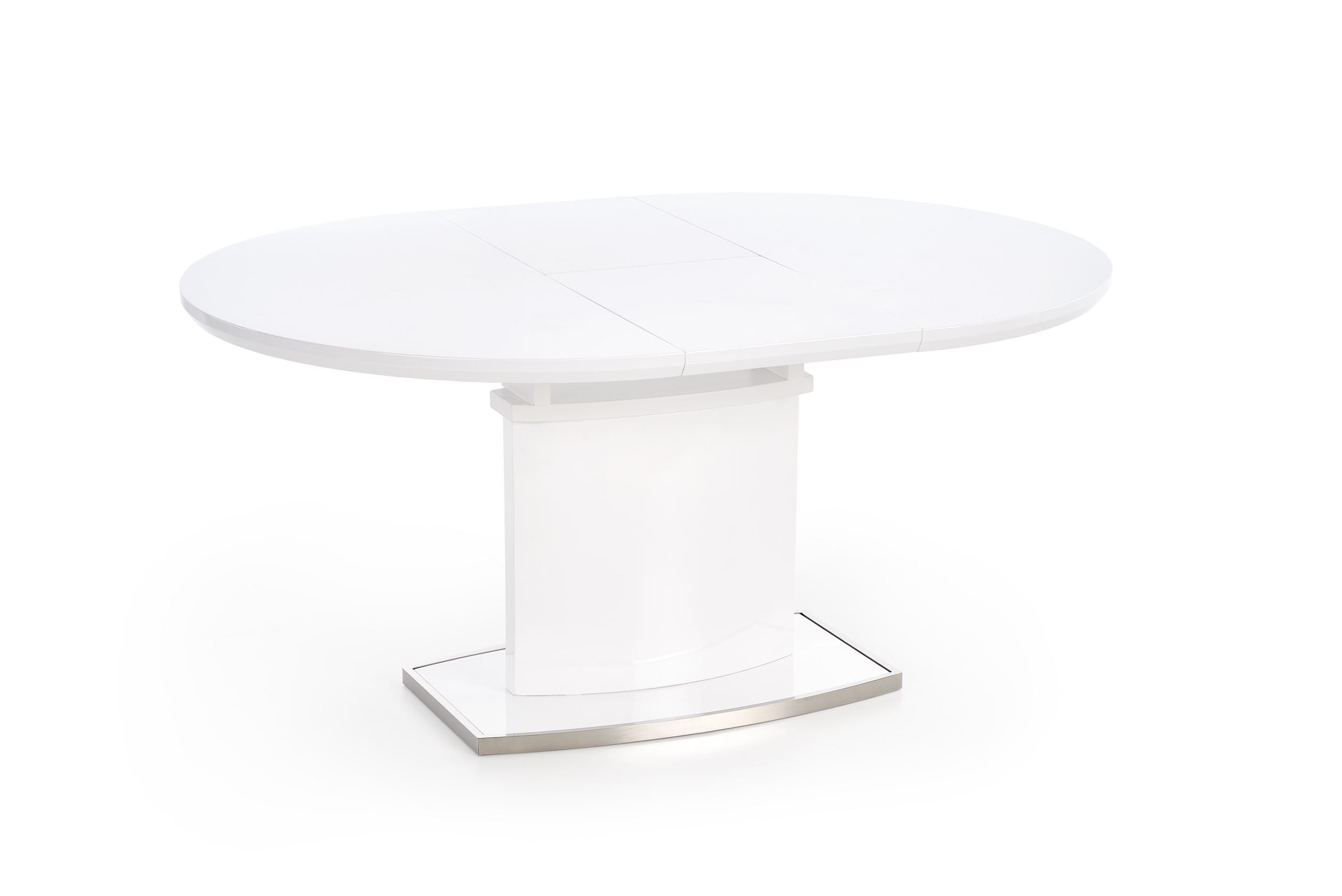 Frederick Small Round To Oval Extending Gloss Dining Table 120Cm In 2017 Glass Round Extending Dining Tables (View 8 of 25)