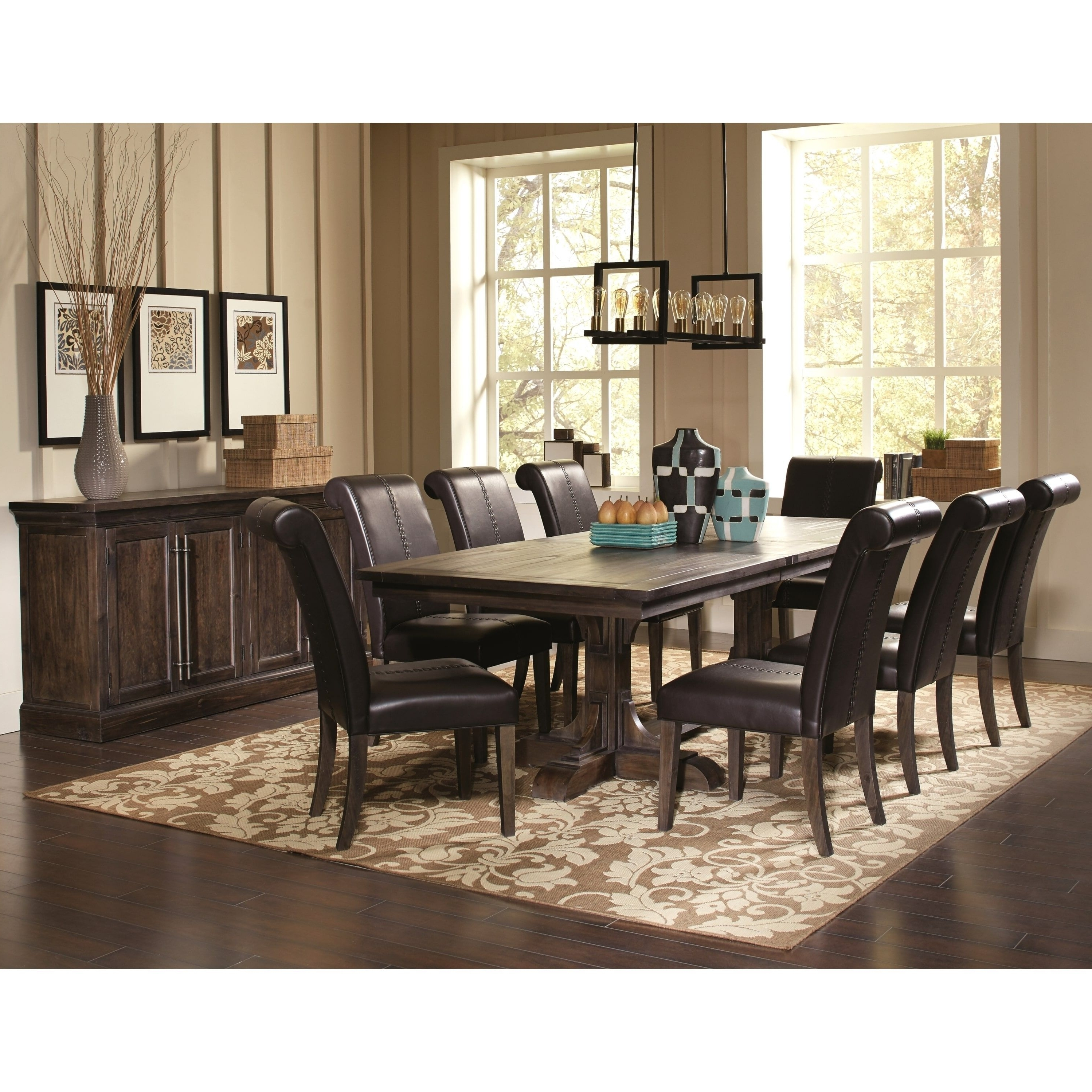French Baroque Designed Dining Set With Storage Buffet Server (1 Regarding Favorite 8 Chairs Dining Tables (View 12 of 25)