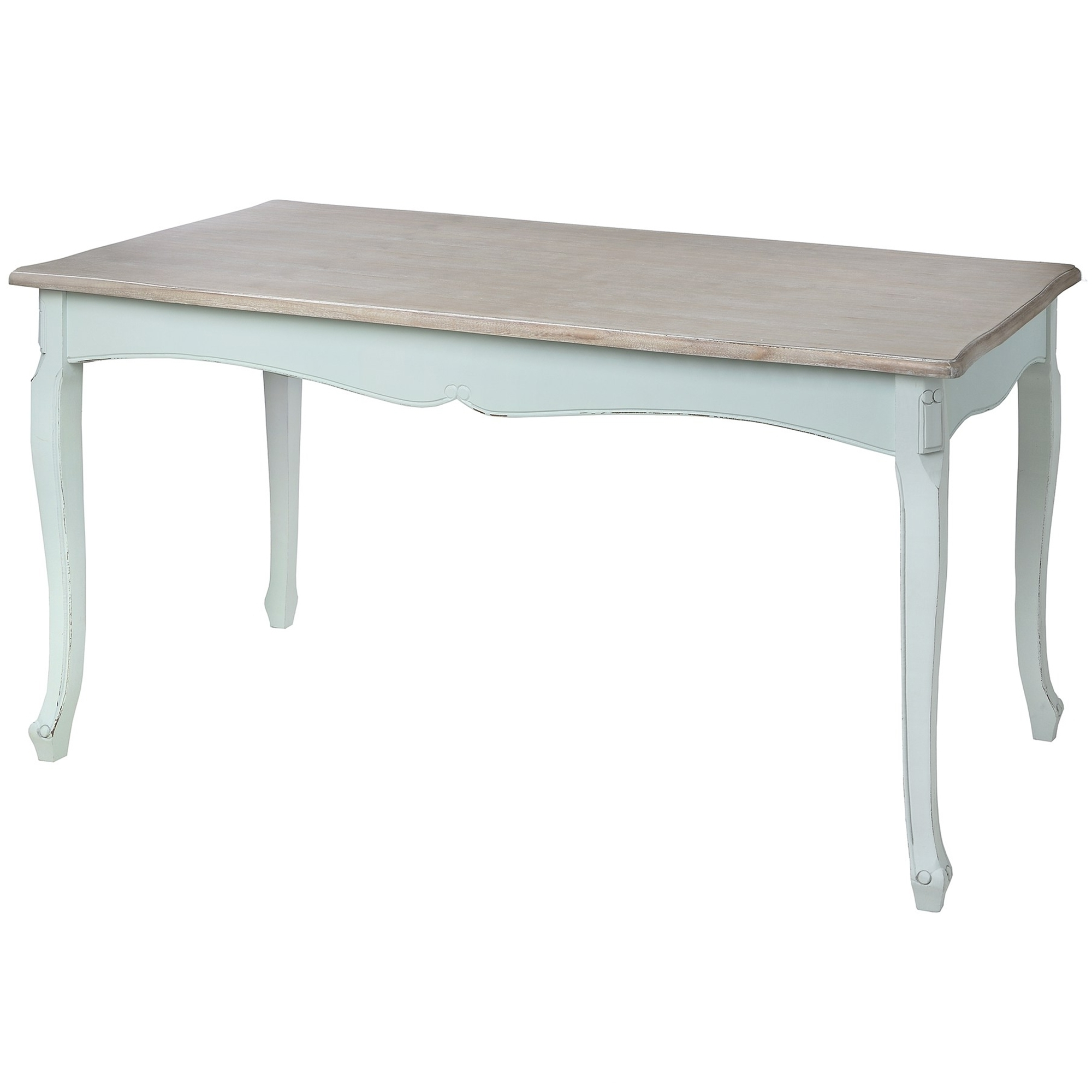 French Chic Dining Tables Throughout Widely Used Duck Egg Shabby Chic Dining Table (View 9 of 25)