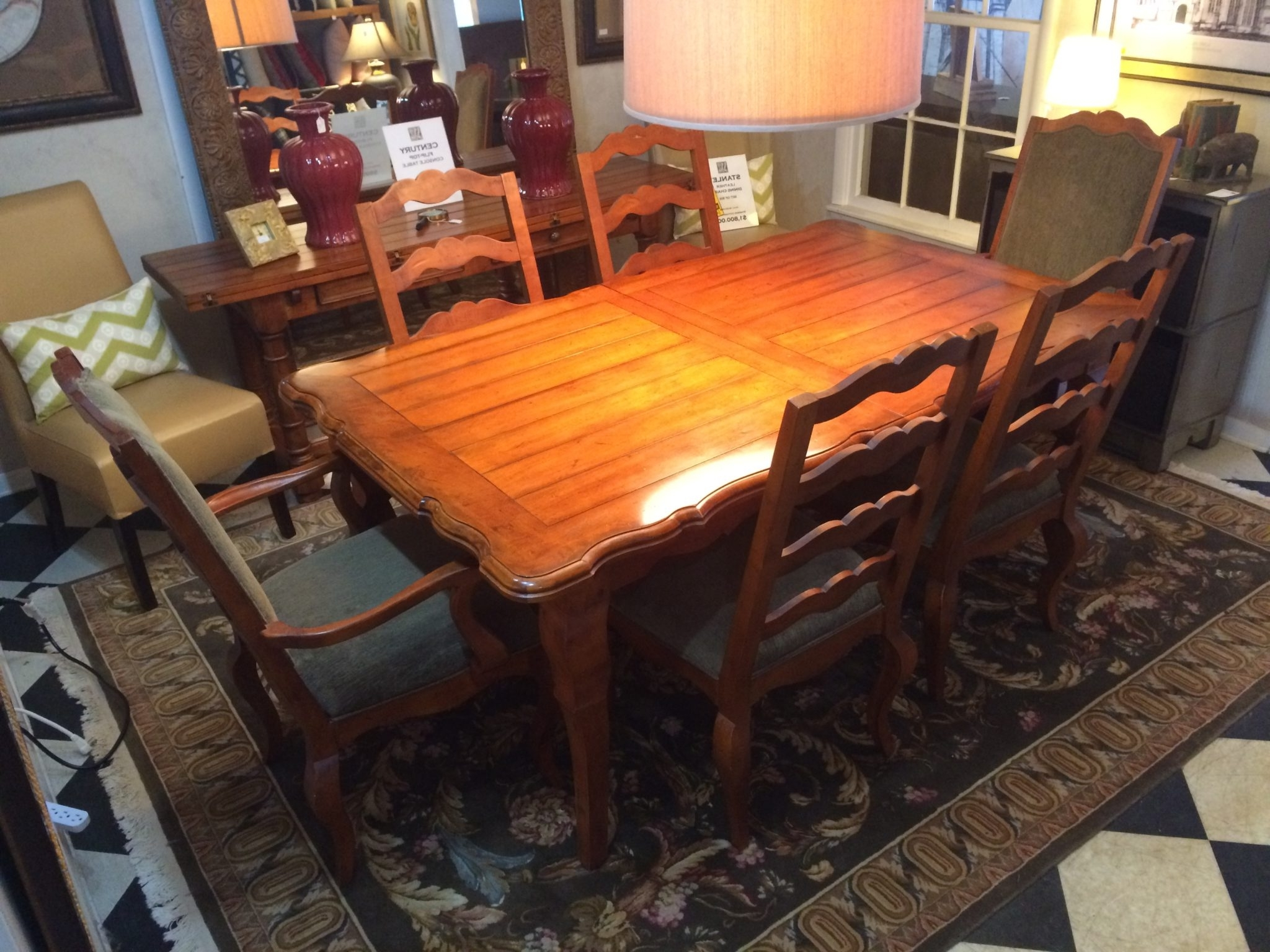 French Country Dining Tables Intended For Well Liked Century French Country Dining Table With Six Chairs (View 24 of 25)