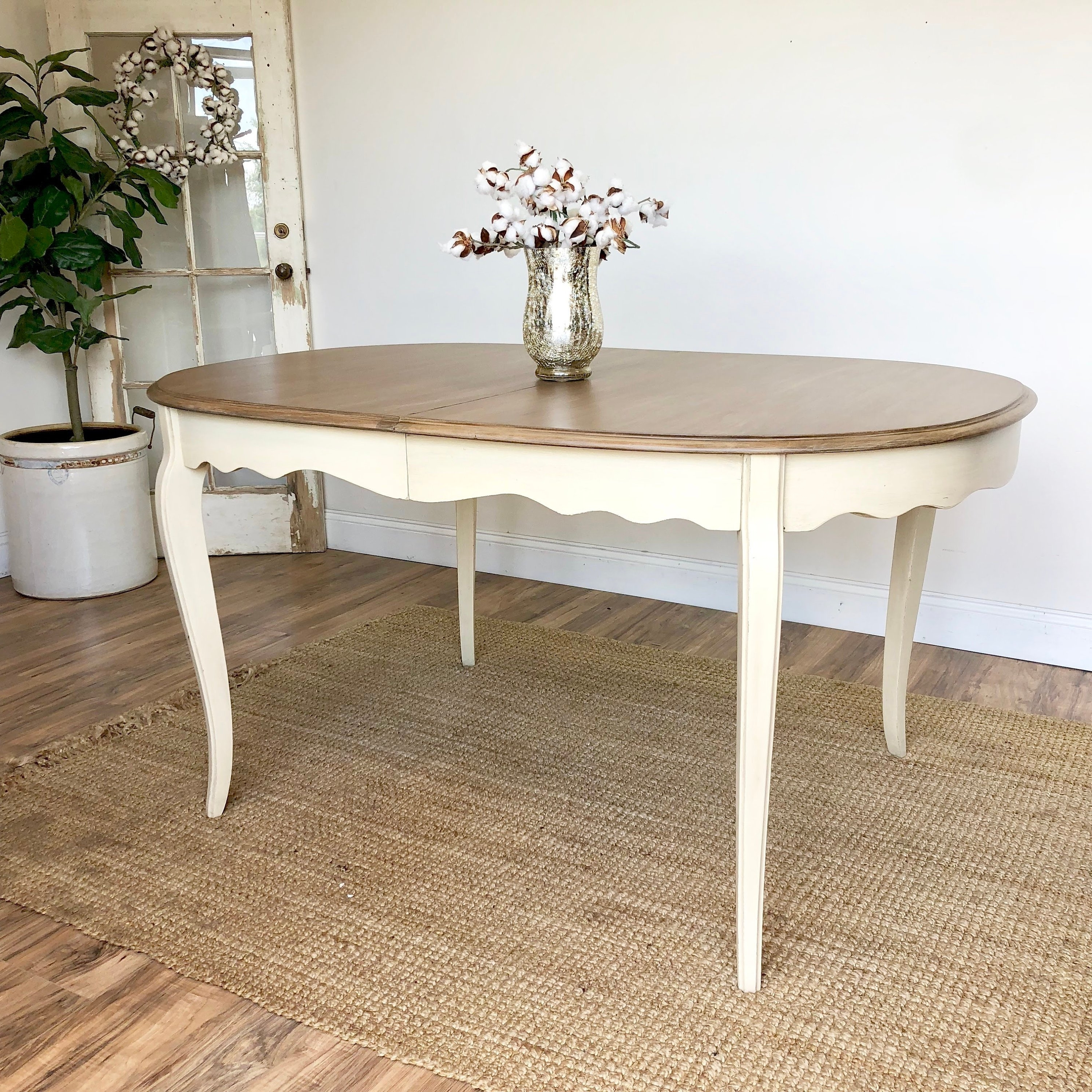 French Country Dining Tables With Current Yellow French Country Dining Table – Shabby Chic Distressed Wood (View 9 of 25)