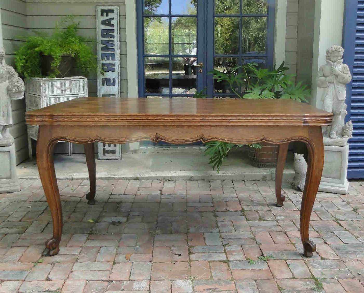 French Country Dining Tables Within 2017 Antique French Country Dining Table With Draw Leaf And Oak Parquet Top (View 20 of 25)