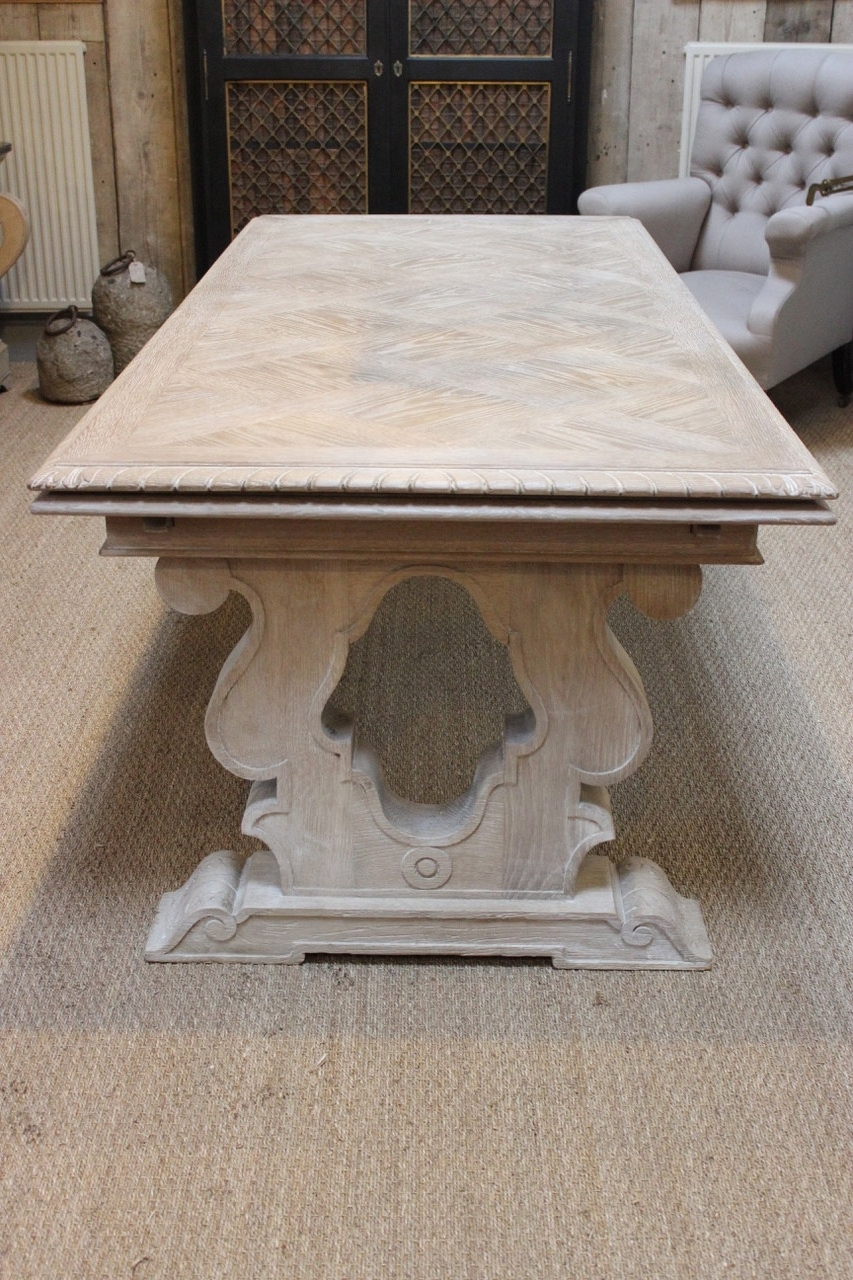 French Extending Dining Tables For Favorite 1930S Extendable French Bleached Oak Dining Table – Dining Tables (View 4 of 25)