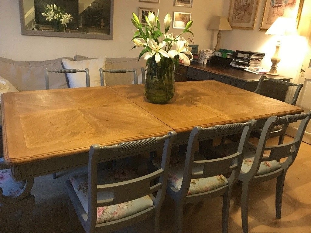 French Farmhouse Dining Table 8 Chairs (View 9 of 25)