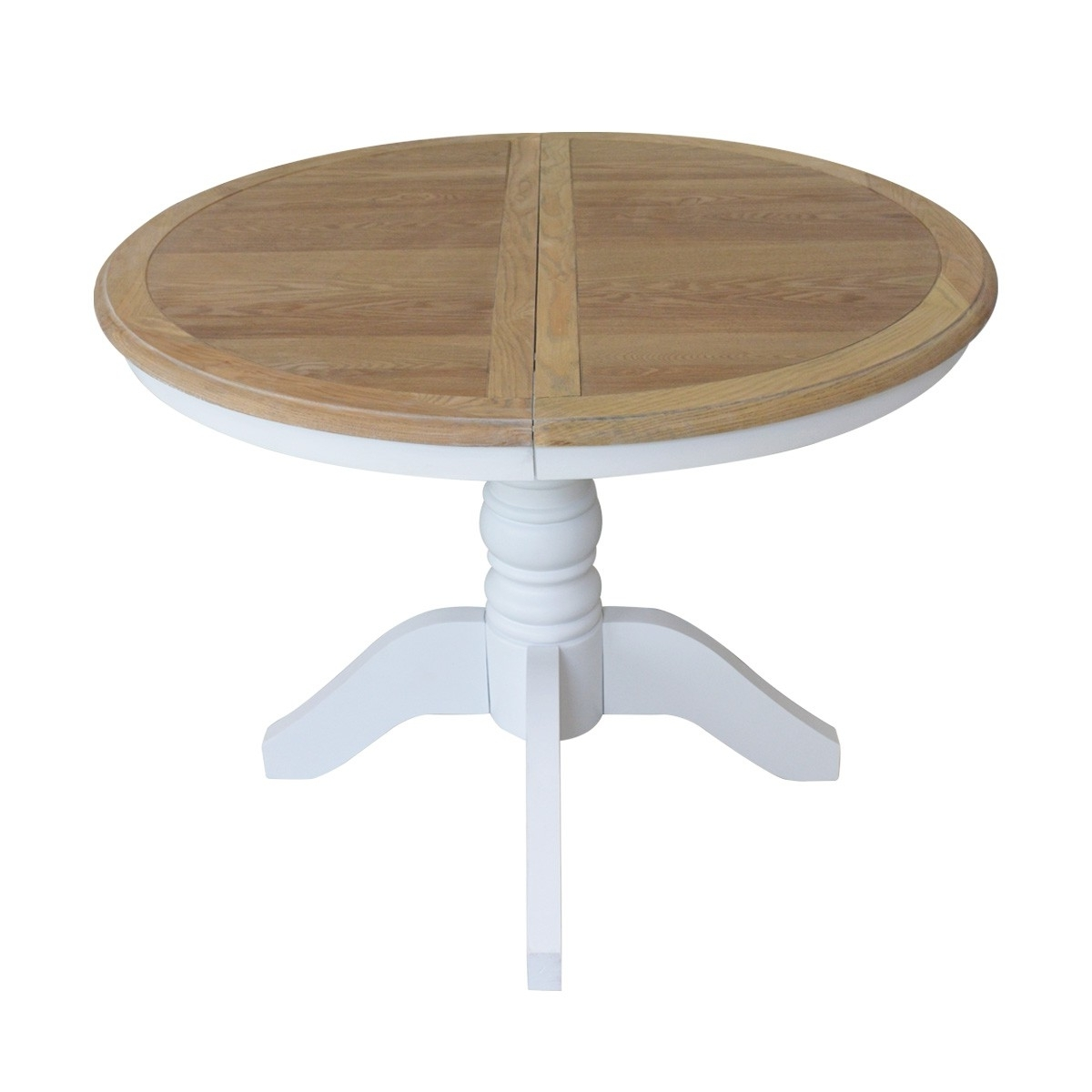 French Provincial Classic White Extendable Round Dining Table With Regarding Newest Extendable Round Dining Tables (View 12 of 25)