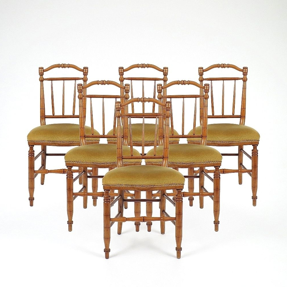 French Wooden Dining Chairs, 1950S, Set Of 6 For Sale At Pamono With Most Recently Released Wooden Dining Sets (View 16 of 25)