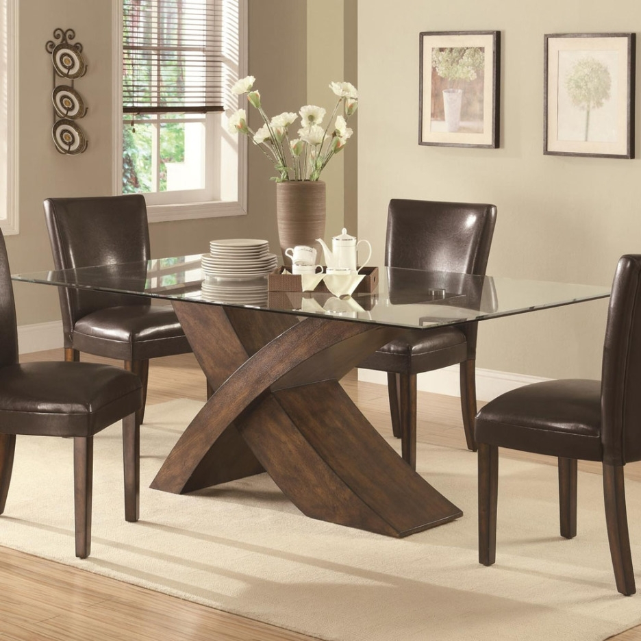 Furniture Cozy Picture Of Dining Room Design And Decoration With Intended For Latest Curved Glass Dining Tables (View 15 of 25)