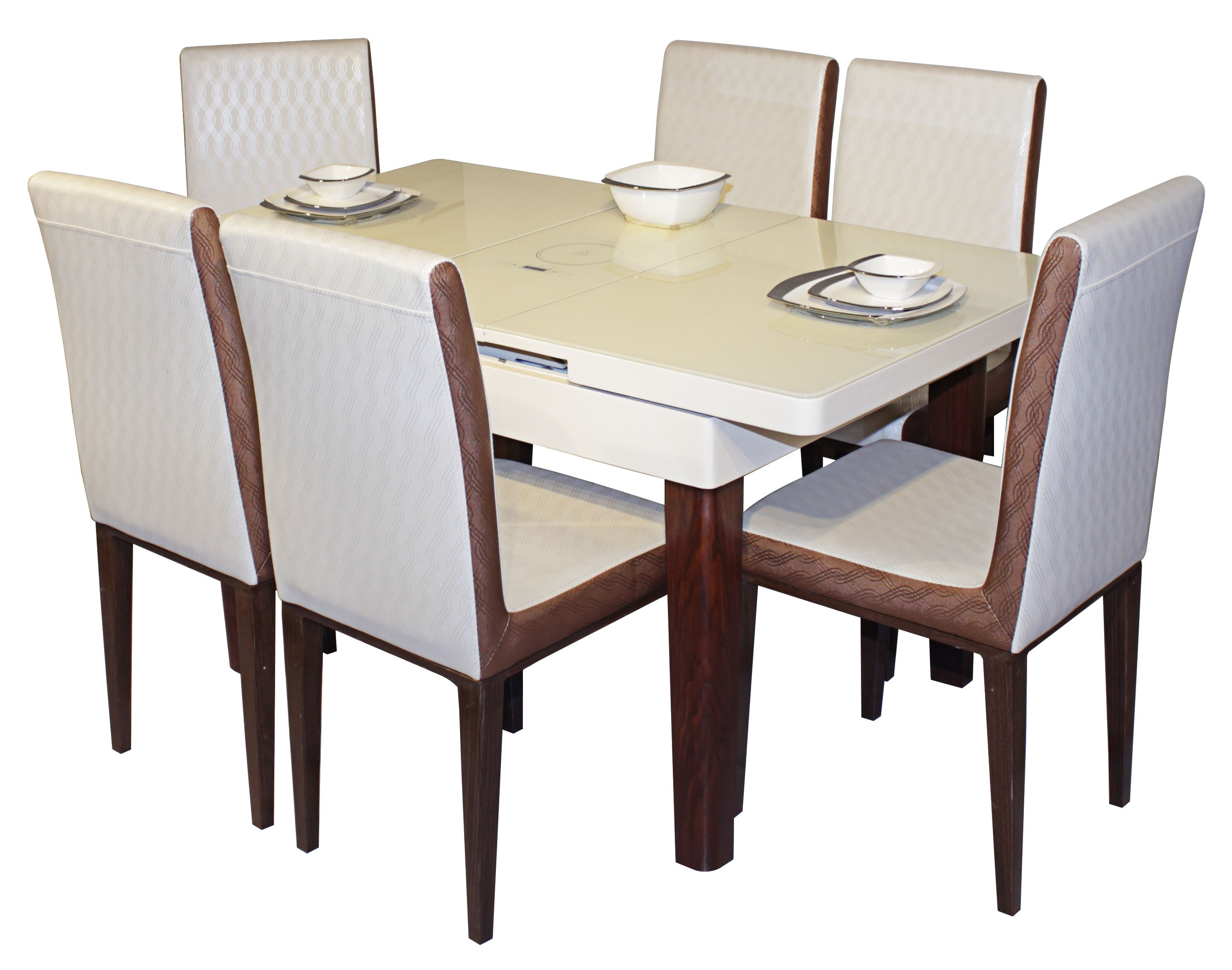 Galassia 6 Seater Dining Table Set Pertaining To Well Known 6 Seat Dining Tables And Chairs (View 13 of 25)