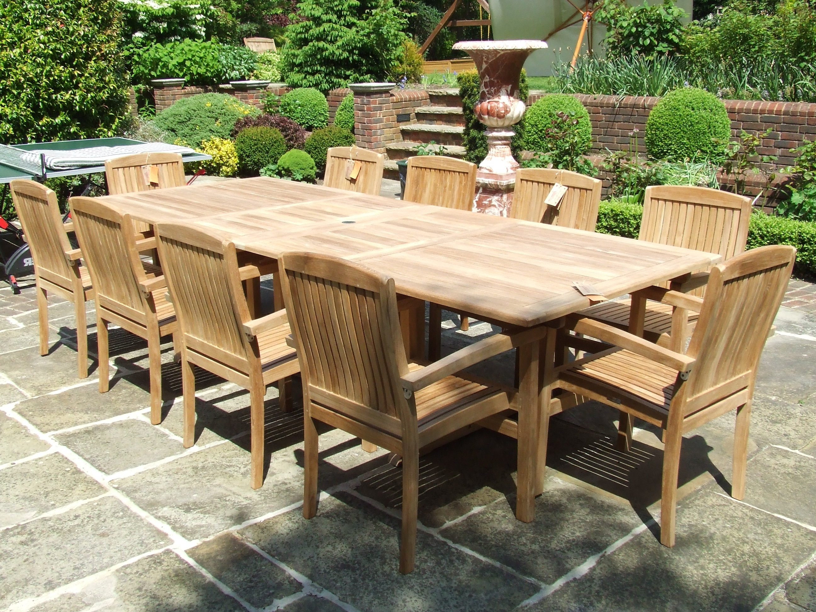 Garden Dining Tables Inside Newest Garden Dining Tables – Ujecdent (View 18 of 25)