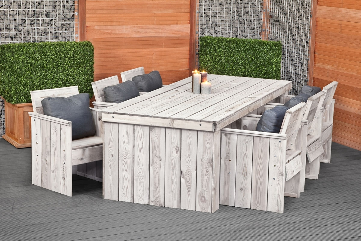 Garden Dining Tables Pertaining To Most Current Rustic Garden Dining Set Furniture (View 3 of 25)