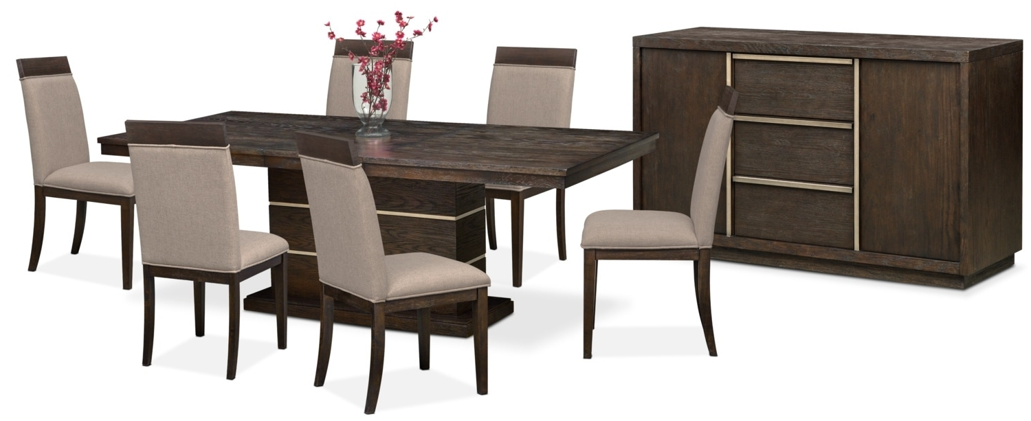 Gavin 7 Piece Dining Sets With Clint Side Chairs Intended For Most Up To Date The Gavin Dining Collection – Brownstone (View 4 of 25)