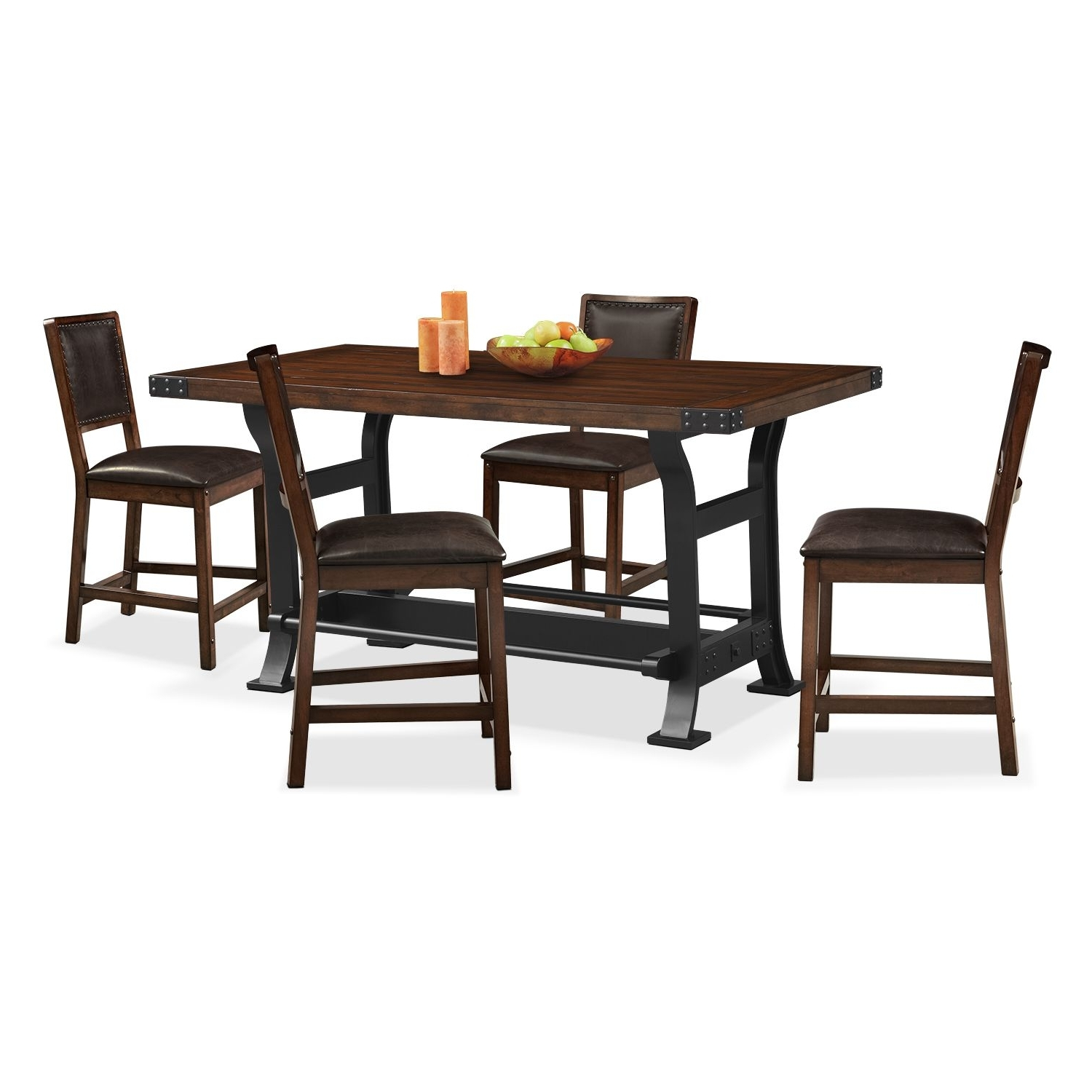 Gavin 7 Piece Dining Sets With Clint Side Chairs With Regard To Fashionable Hampton Counter Height Dining Table And 6 Upholstered Stoo (View 8 of 25)