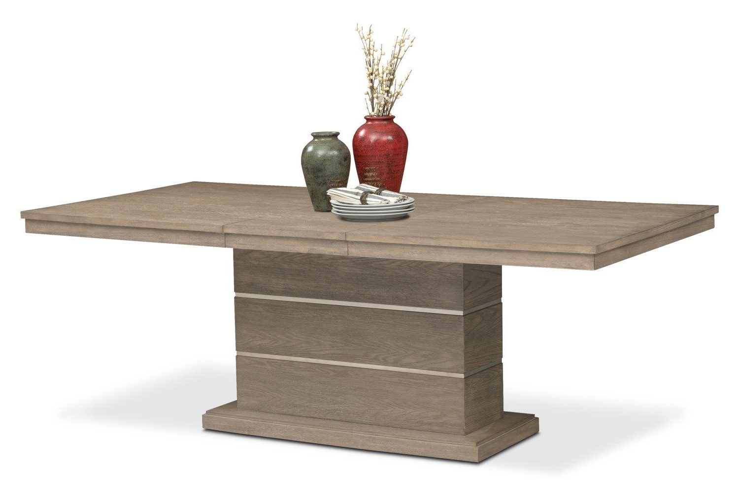 Gavin Dining Tables Pertaining To Most Recent Gavin Pedestal Table – Graystone (View 11 of 25)