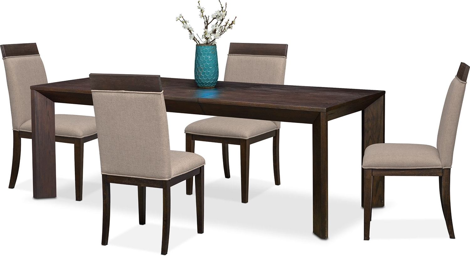 Gavin Table And 4 Side Chairs – Brownstone (View 10 of 25)