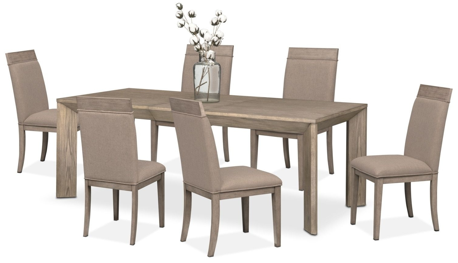 Gavin Table And 6 Side Chairs – Graystone (View 15 of 25)