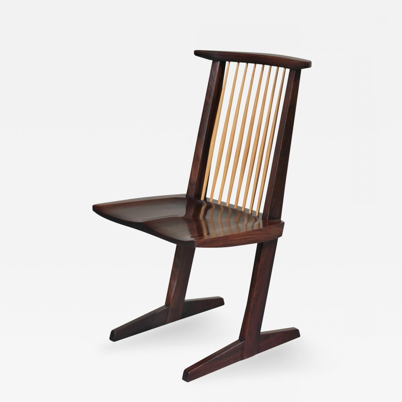 George Nakashima – 12 Extremely Rare East Indian Rosewood Conoid With Regard To Well Known Indian Dining Chairs (View 8 of 25)
