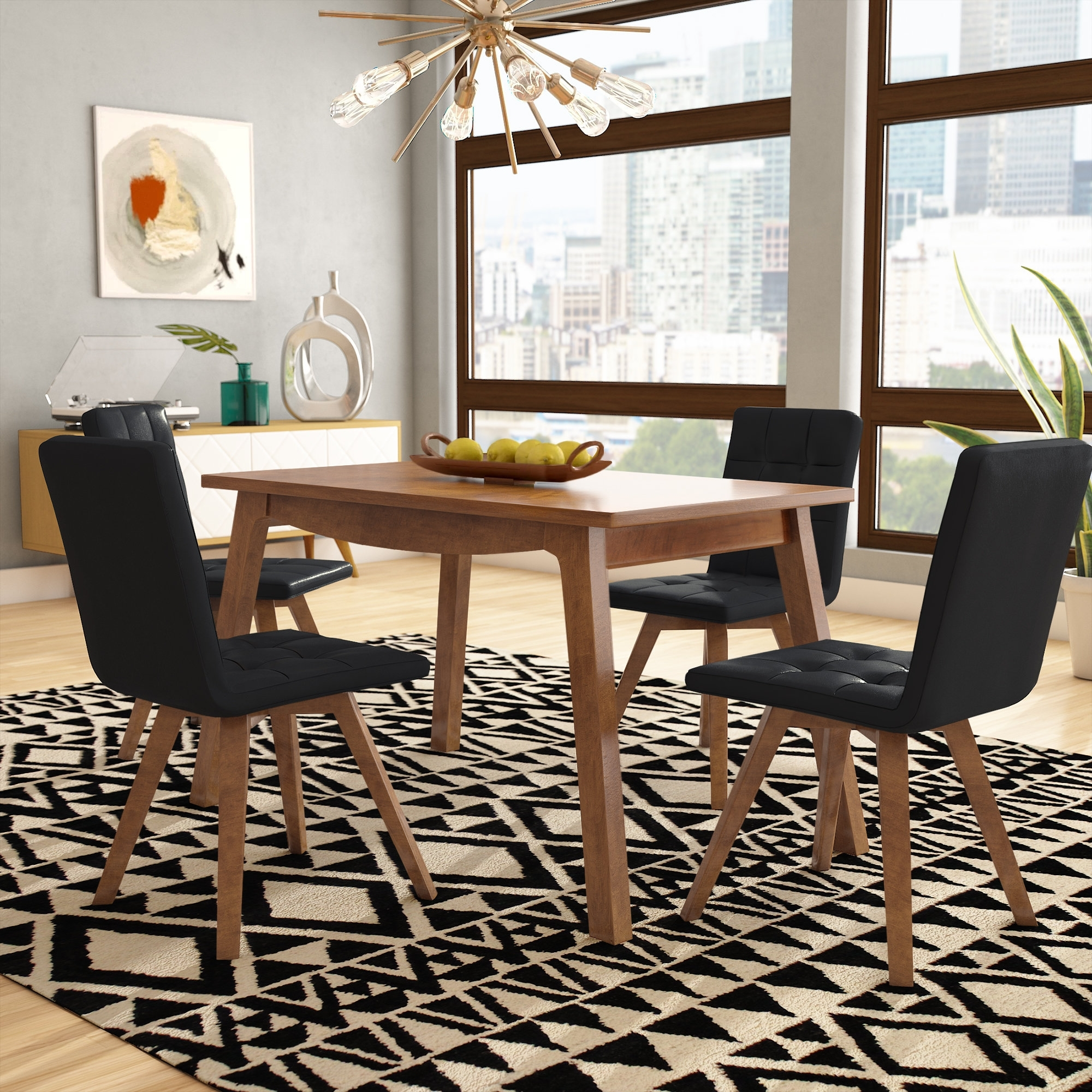 George Oliver Wyckhoff 5 Piece Dining Set & Reviews (Gallery 19 of 25)