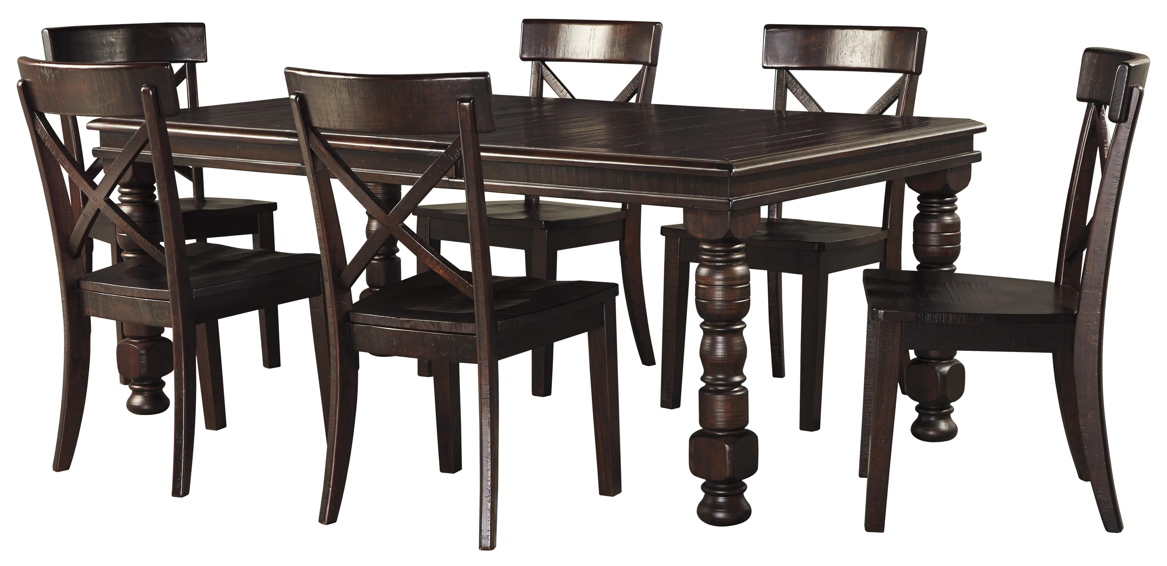 Gerlane 7 Piece Dining Table Setsignature Designashley With Regard To Trendy Laurent 7 Piece Rectangle Dining Sets With Wood Chairs (View 17 of 25)