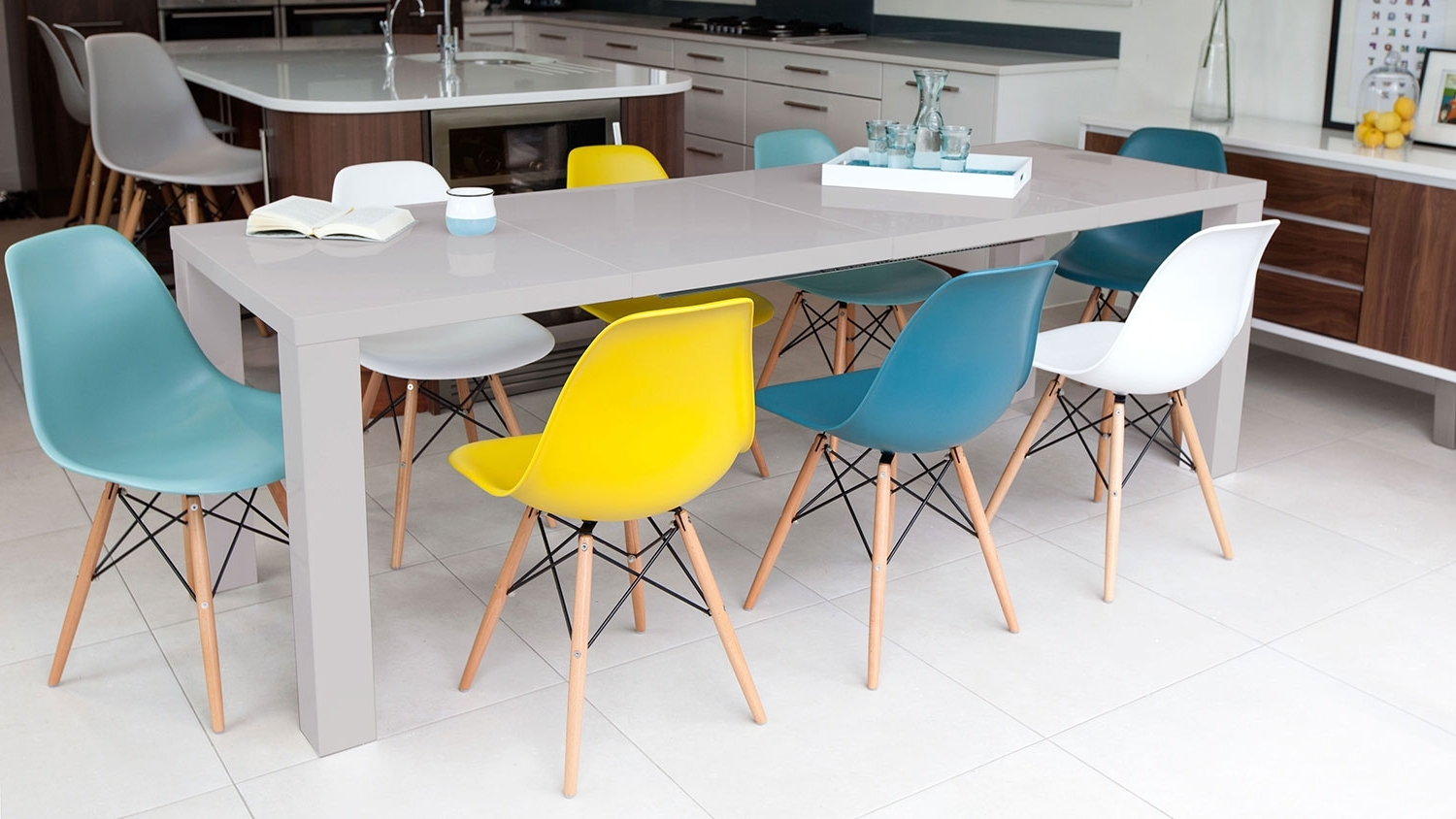 Get Fruity With Brightly Coloured Kitchen Dining Chairs – Danetti Intended For Trendy Colourful Dining Tables And Chairs (Gallery 5 of 25)